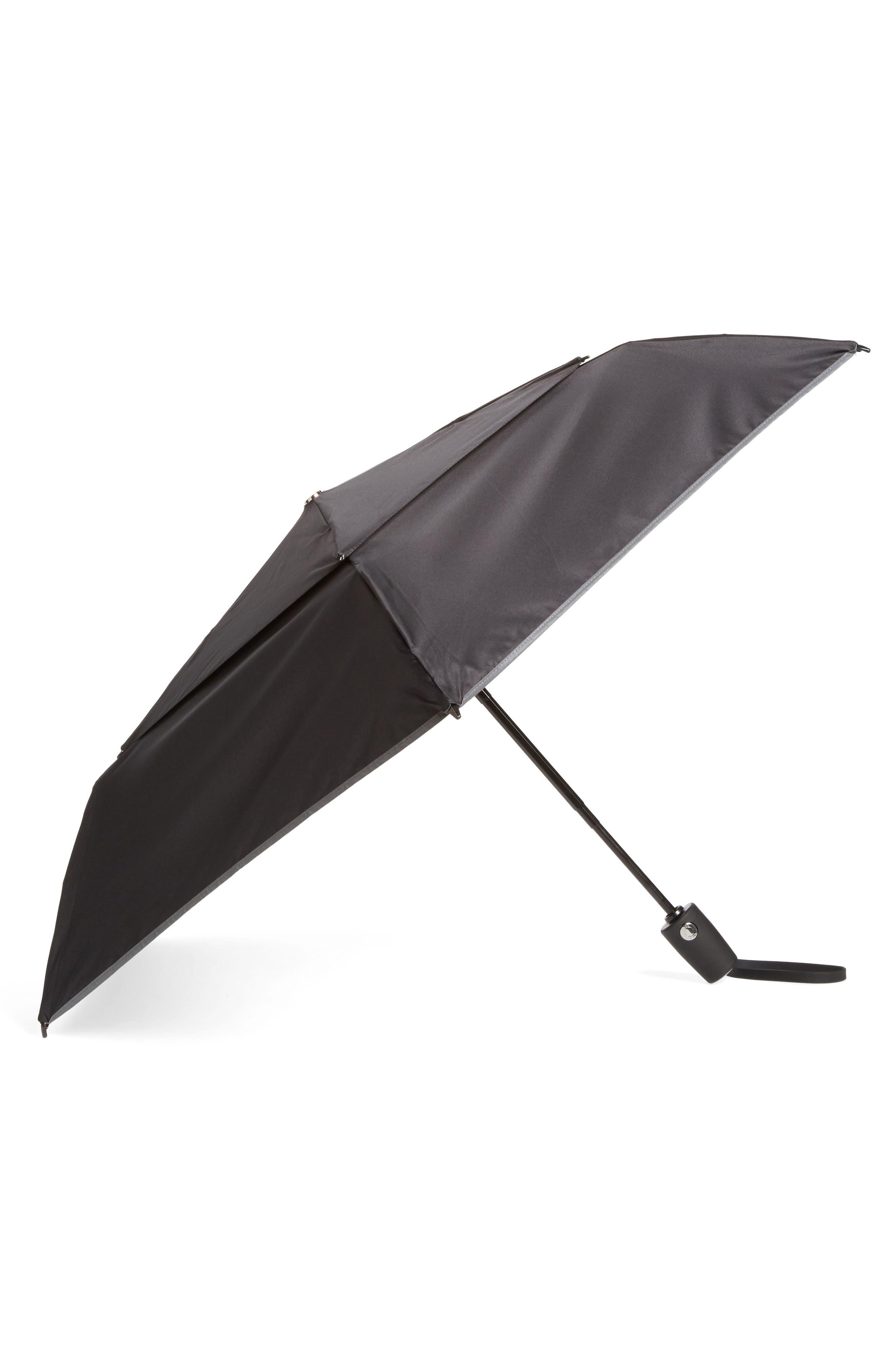 Medium Auto Close Umbrella,                             Main thumbnail 1, color,                             BLACK