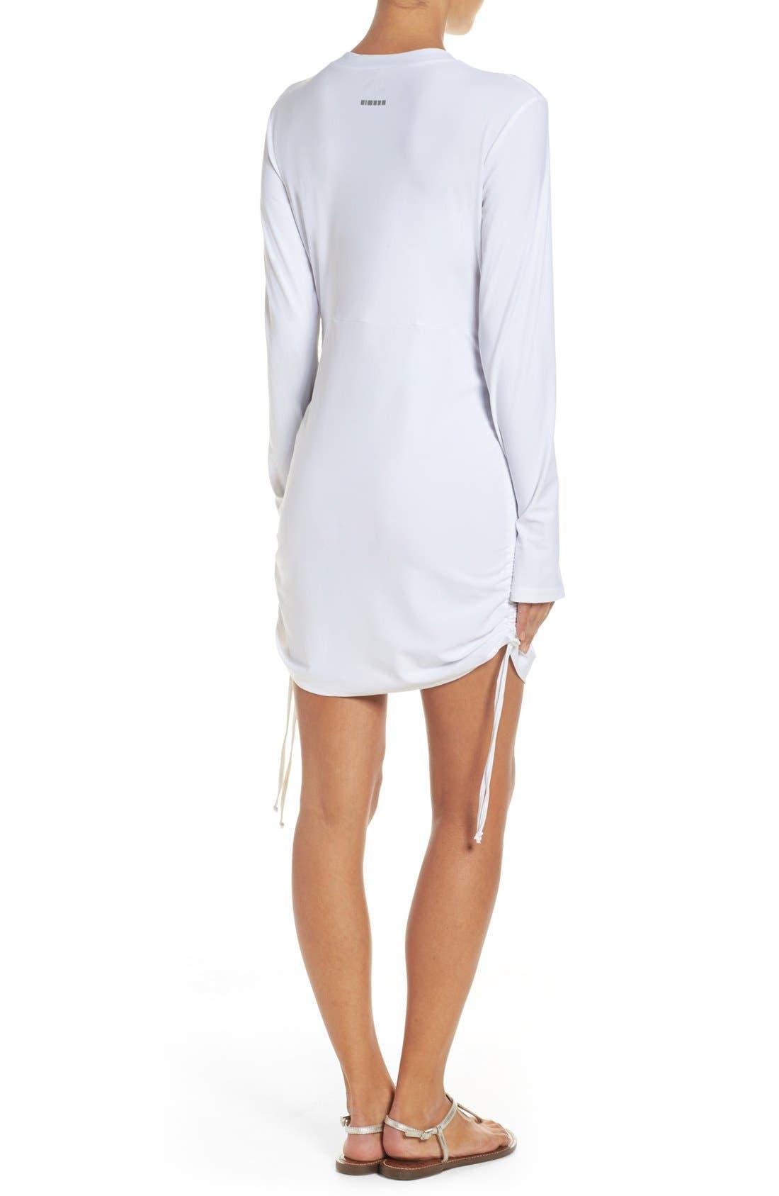 'Sonja' Long Sleeve Half Zip Convertible Swimdress,                             Alternate thumbnail 14, color,