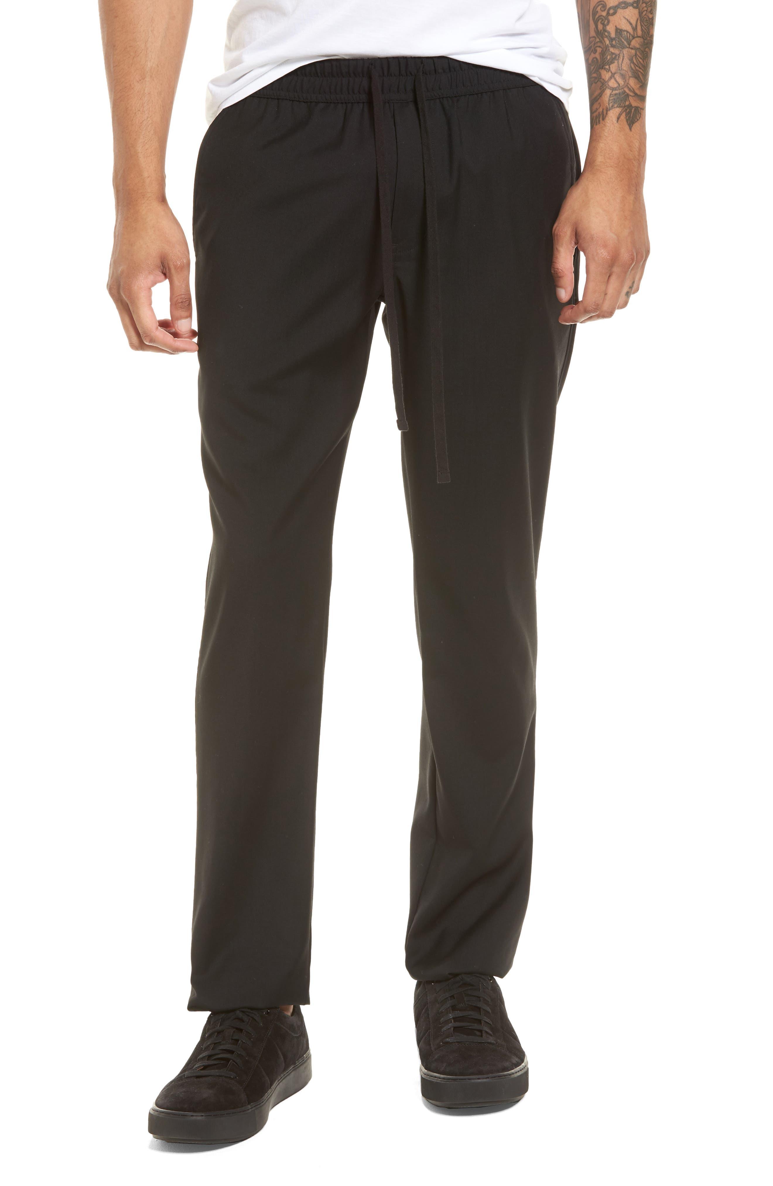 Slim Fit Wool Track Pants,                             Main thumbnail 1, color,                             001