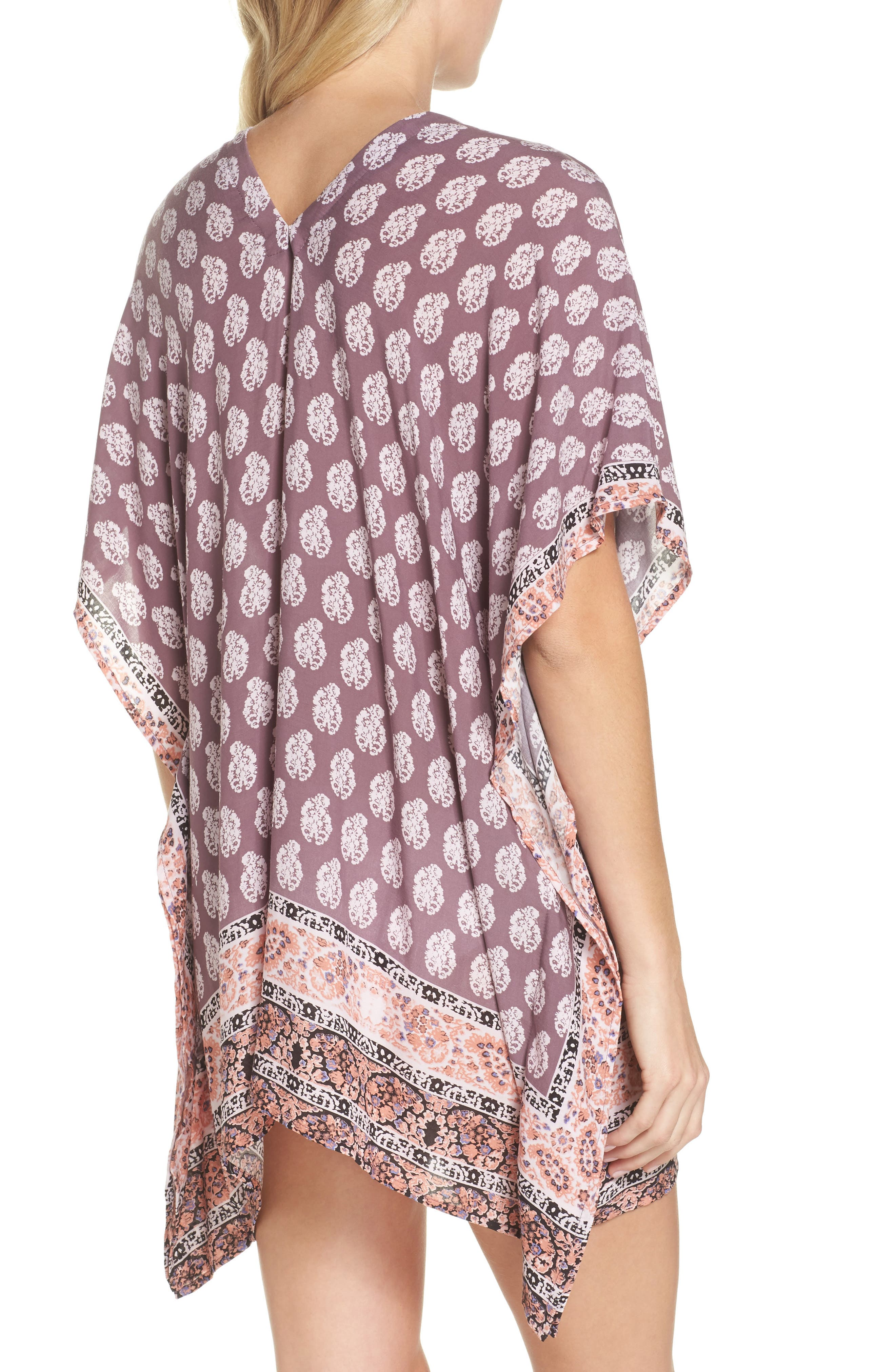 Plum Paradise Cover-Up Tunic,                             Alternate thumbnail 2, color,                             510