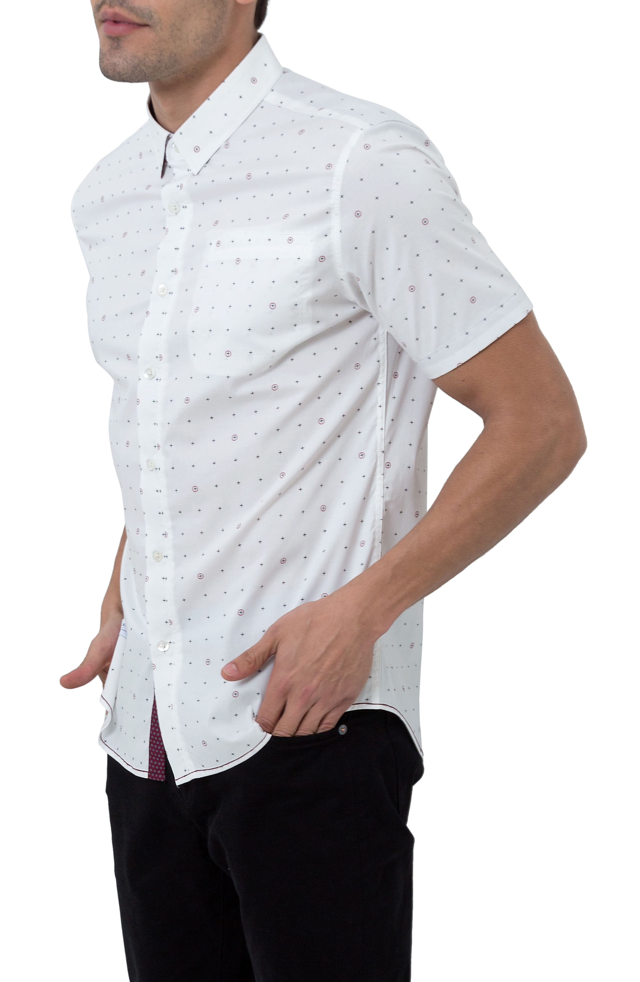 Holiday in Spain Woven Shirt,                             Alternate thumbnail 3, color,                             109