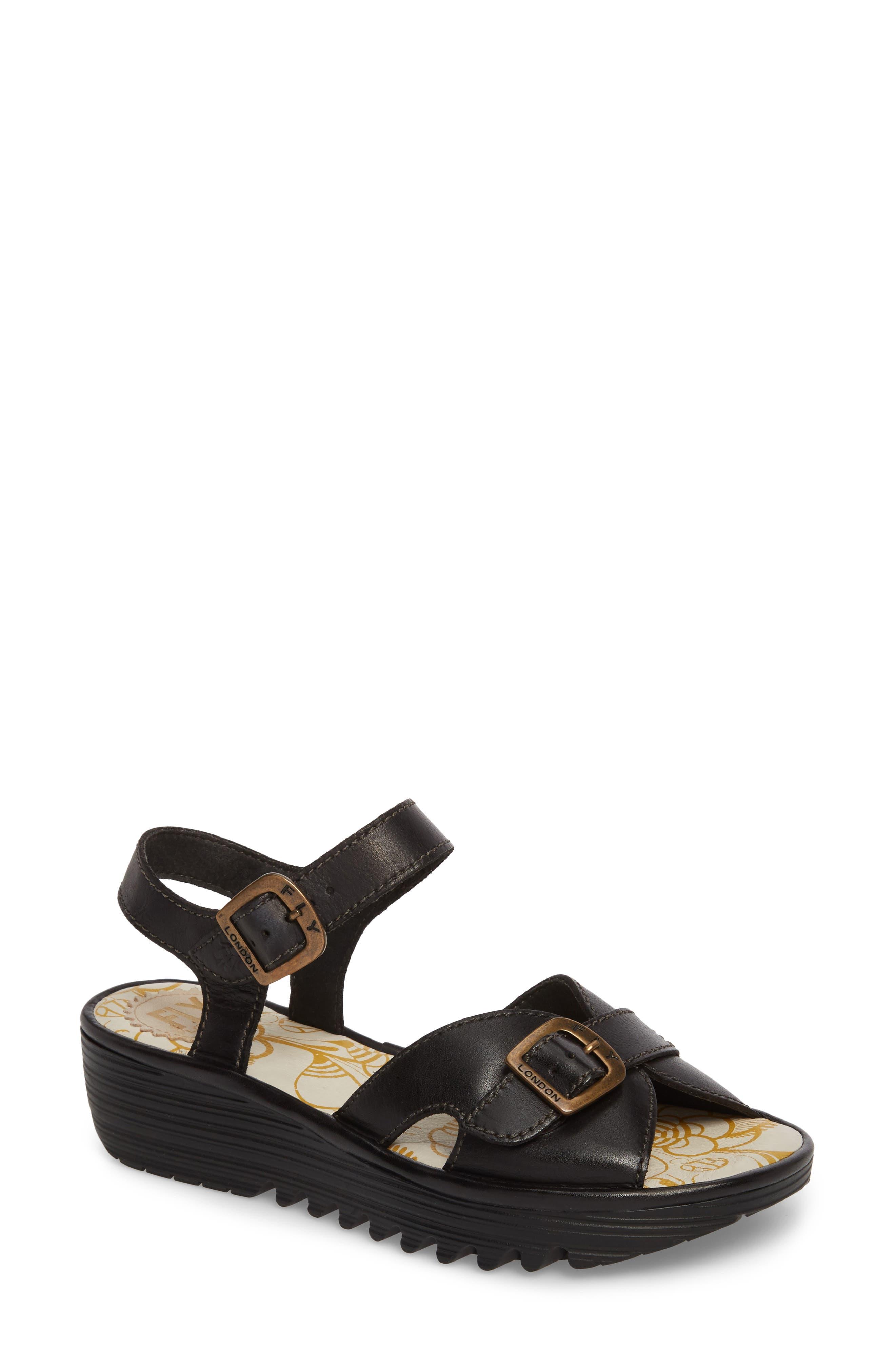 Egal Sandal,                         Main,                         color, BLACK COLMAR LEATHER