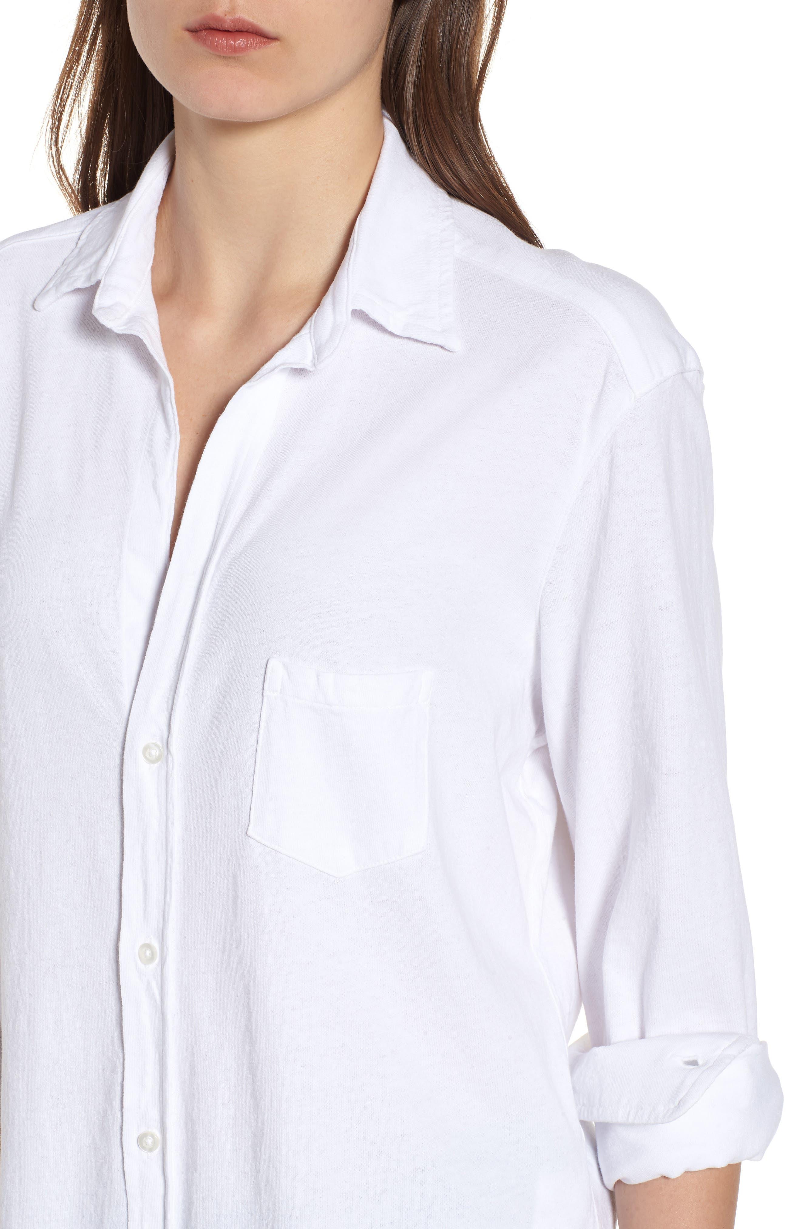 Button Front Jersey Shirt,                             Alternate thumbnail 4, color,                             189