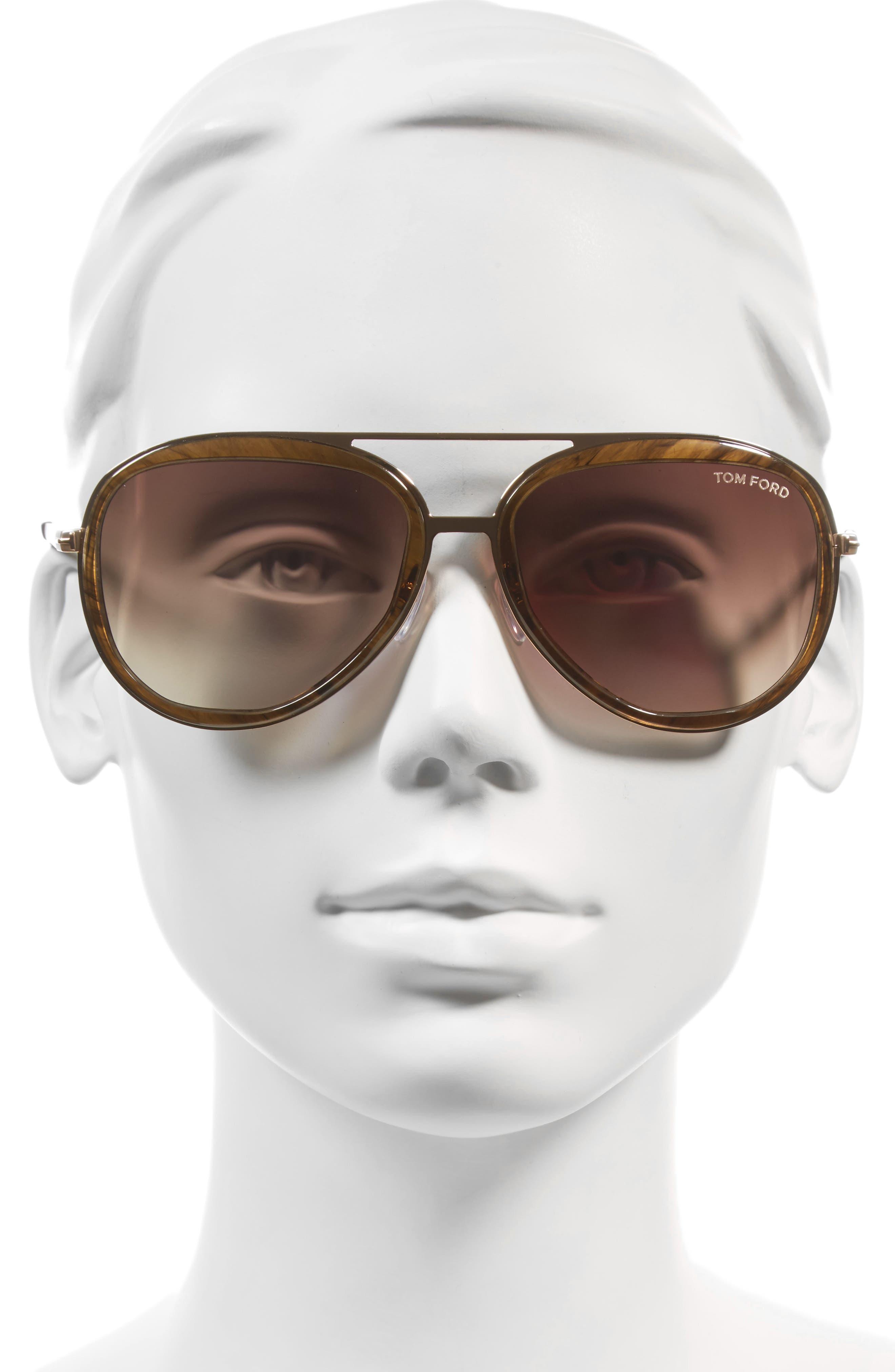 Andy 58mm Aviator Sunglasses,                             Alternate thumbnail 5, color,