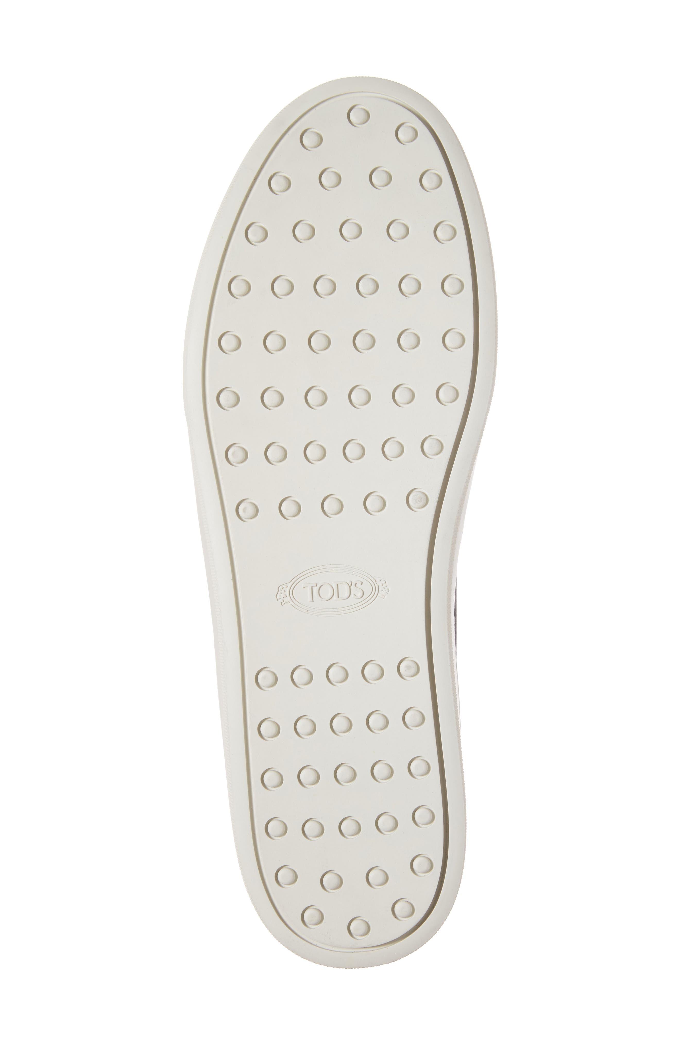 Double-T Kiltie Fringe Slip-On Sneaker,                             Alternate thumbnail 6, color,                             001