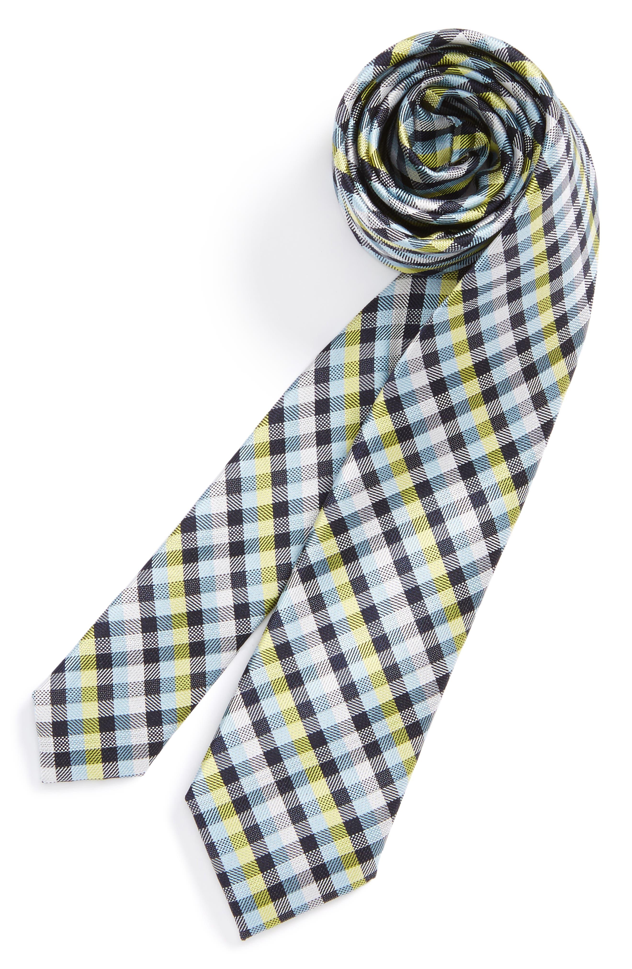 Check Silk Tie,                             Main thumbnail 11, color,