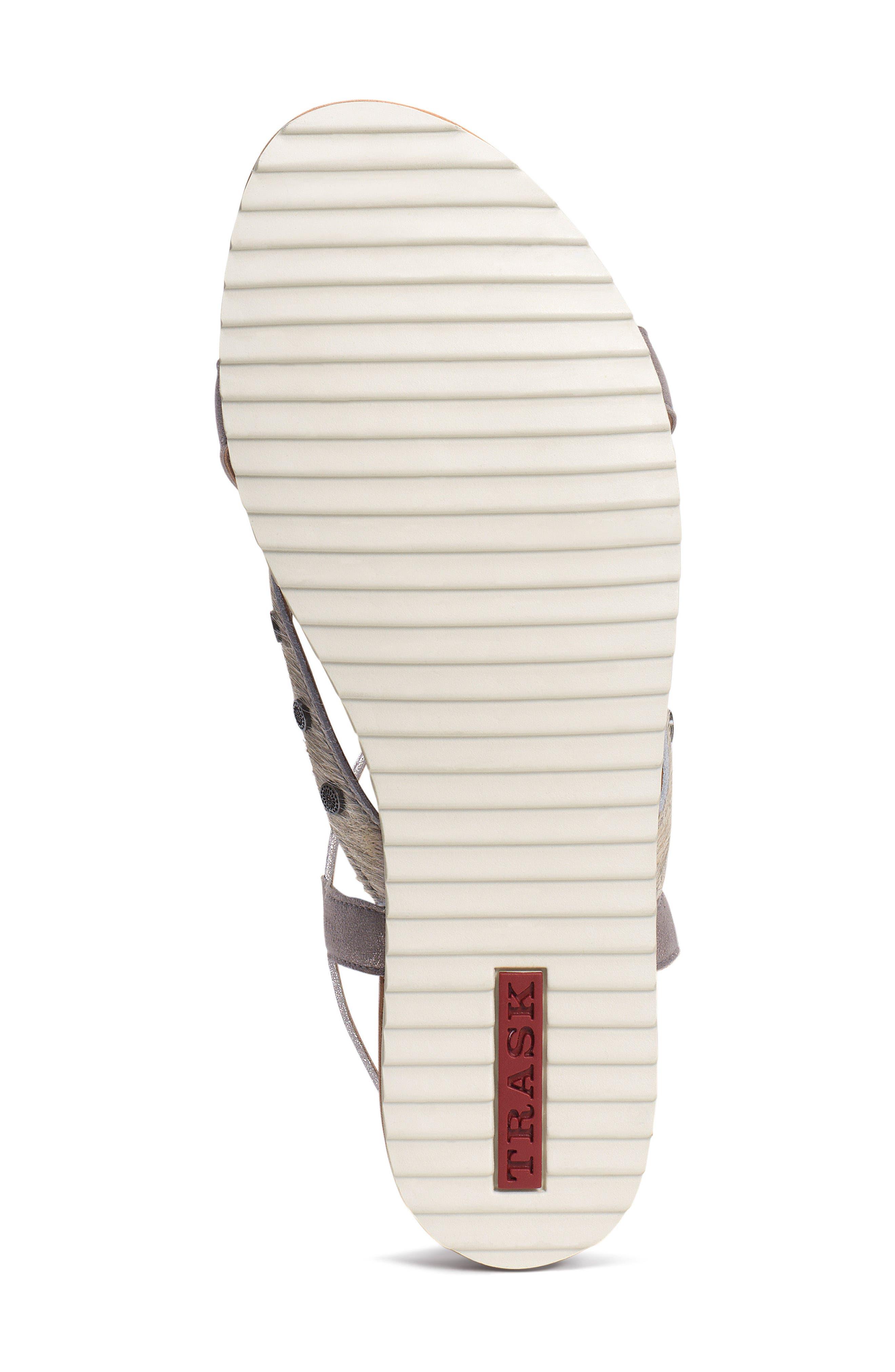 Shayla Water Resistant Sandal,                             Alternate thumbnail 6, color,                             PEWTER/ BONE SUEDE