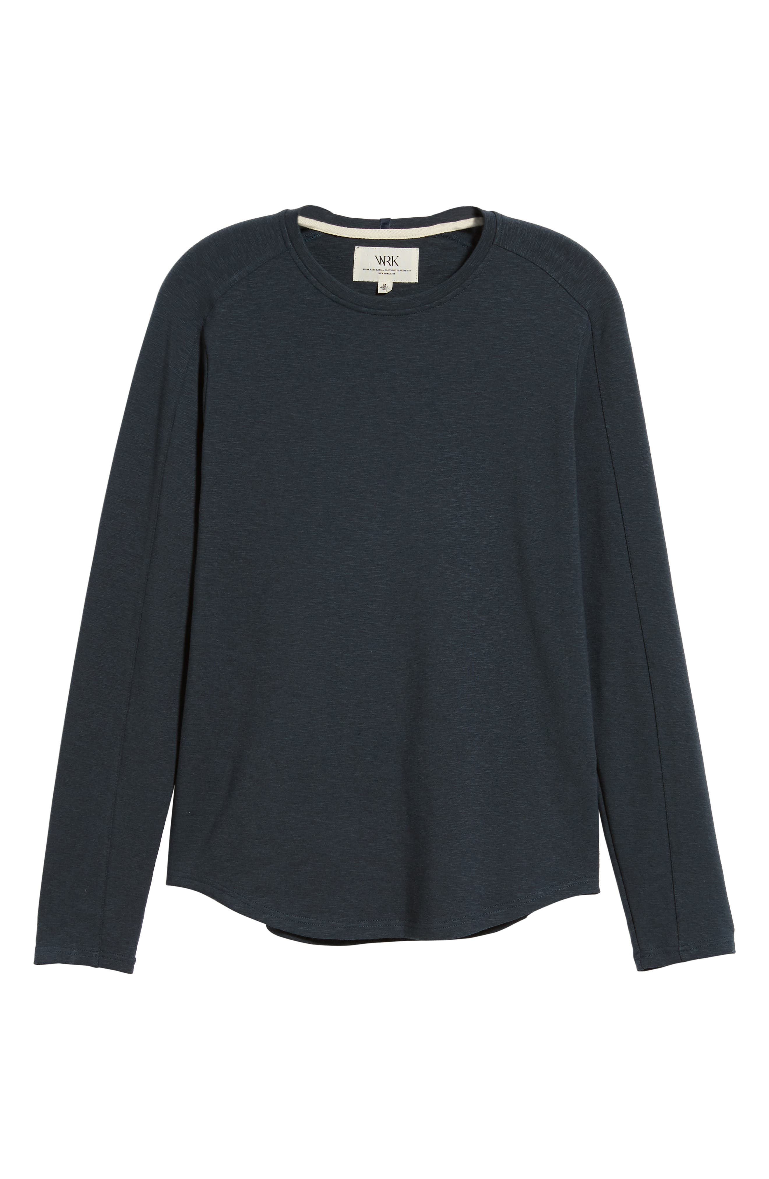 Douglas Slub Long Sleeve T-Shirt,                             Alternate thumbnail 6, color,                             TEAL