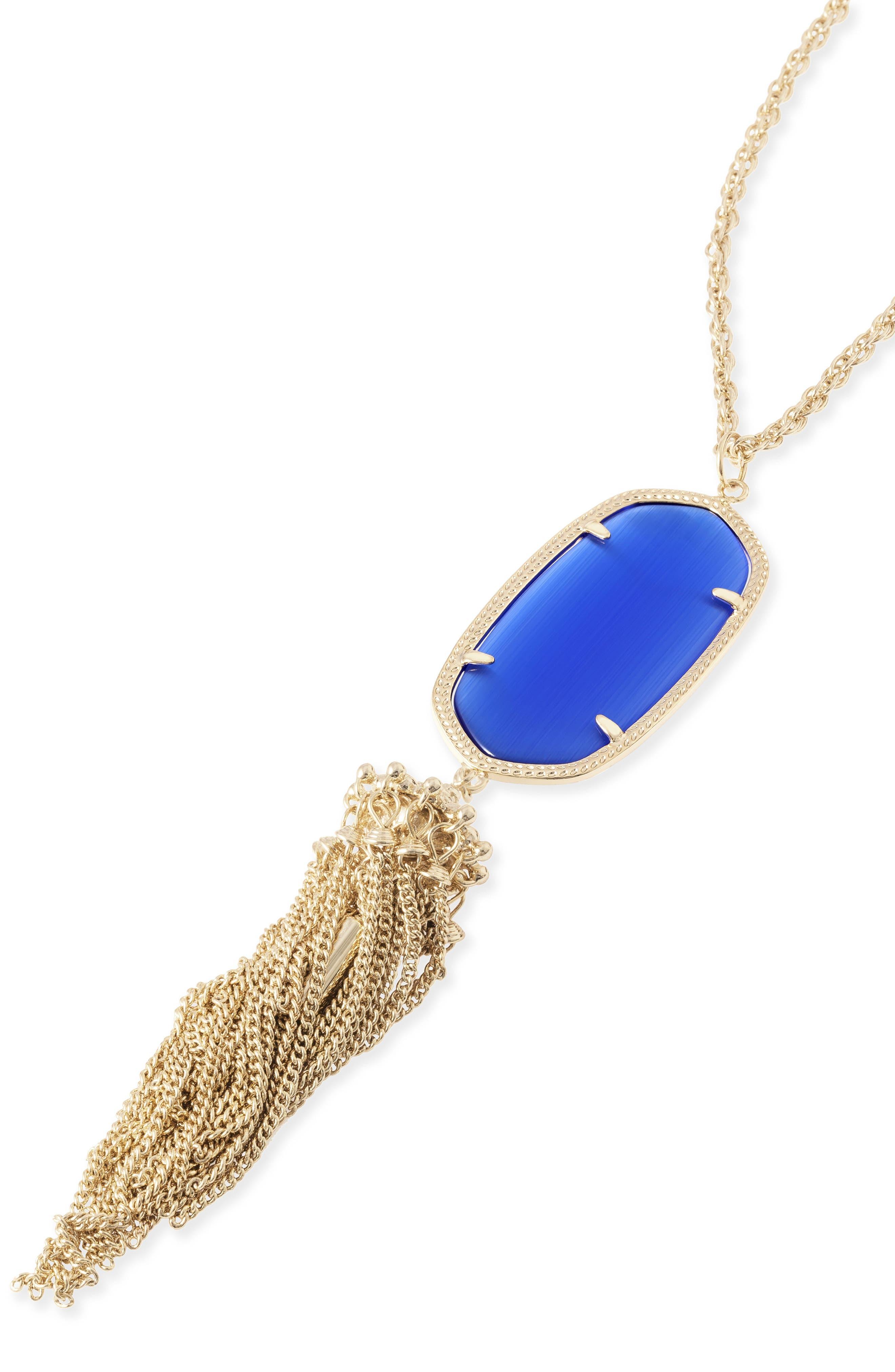 Rayne Stone Tassel Pendant Necklace,                             Alternate thumbnail 243, color,