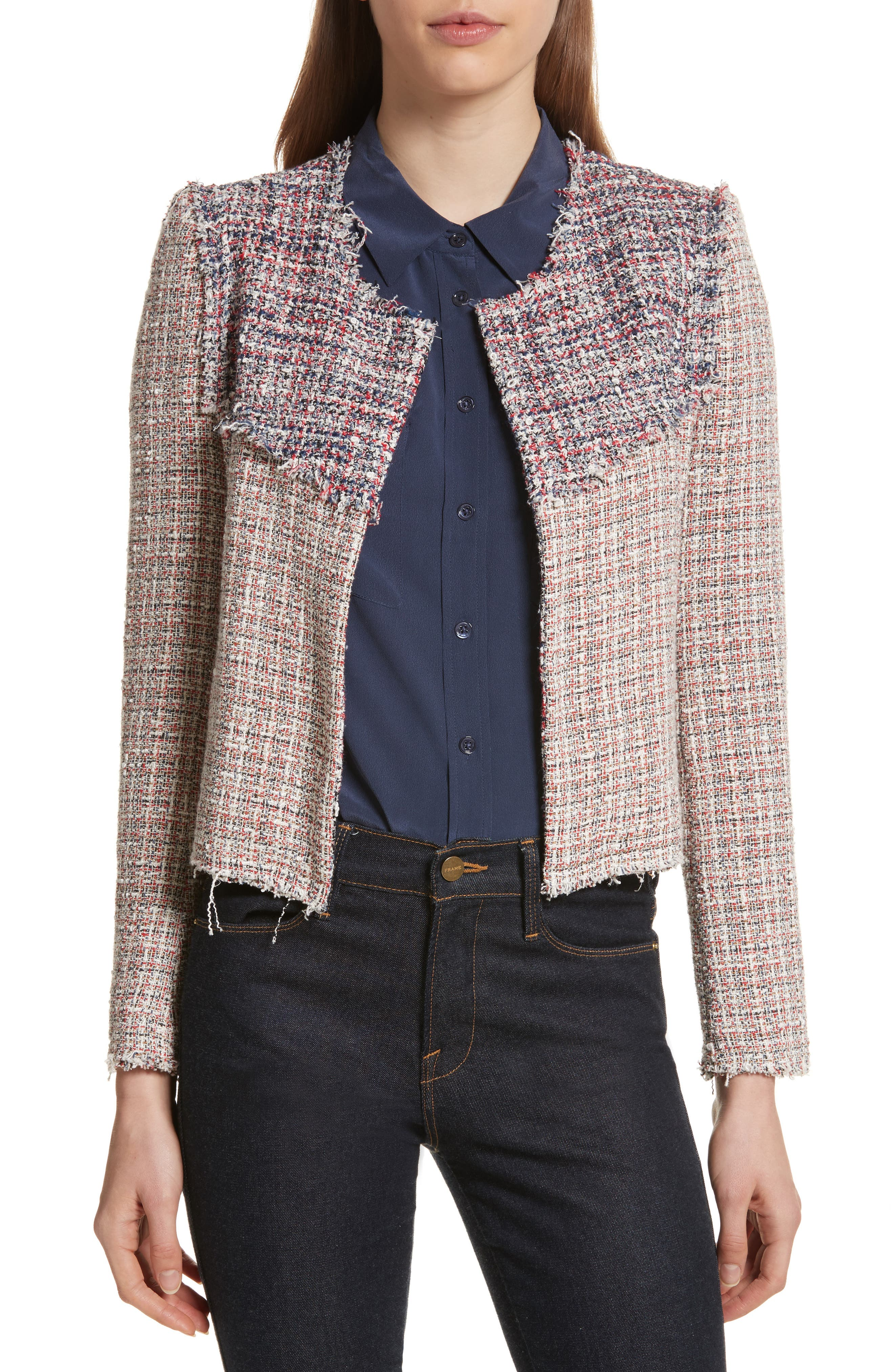 Walefa Tweed Jacket,                             Main thumbnail 1, color,                             651