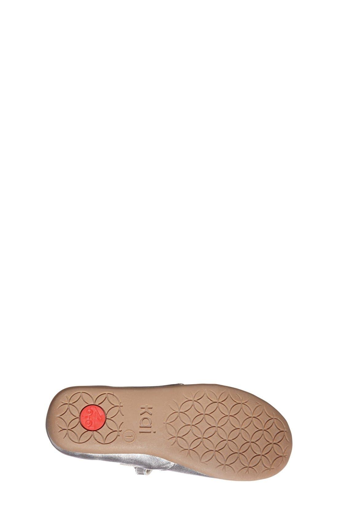 'Ginger' Metallic Leather Mary Jane Flat,                             Alternate thumbnail 4, color,                             040