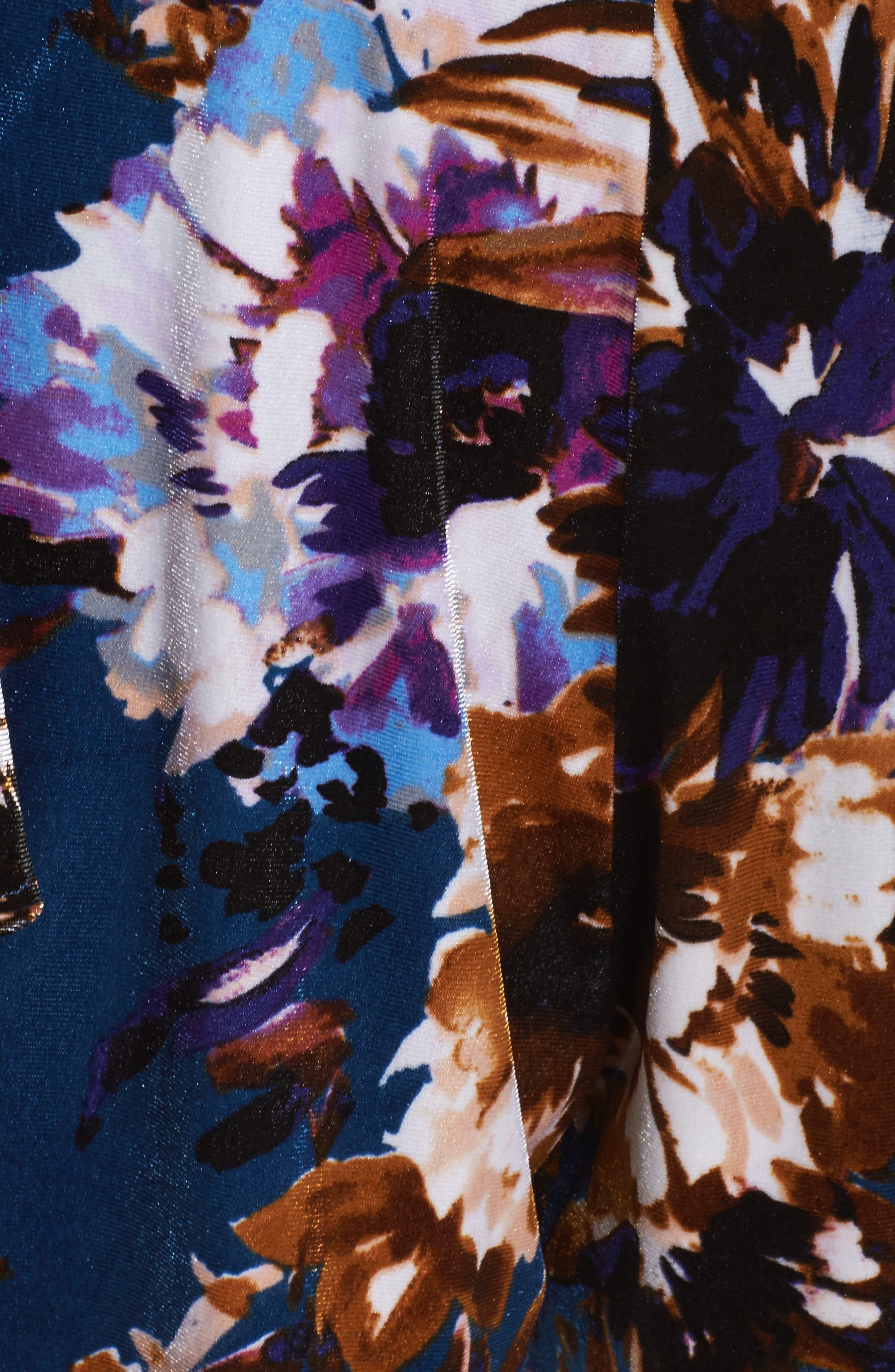Love On The Run Velvet Romper,                             Alternate thumbnail 5, color,