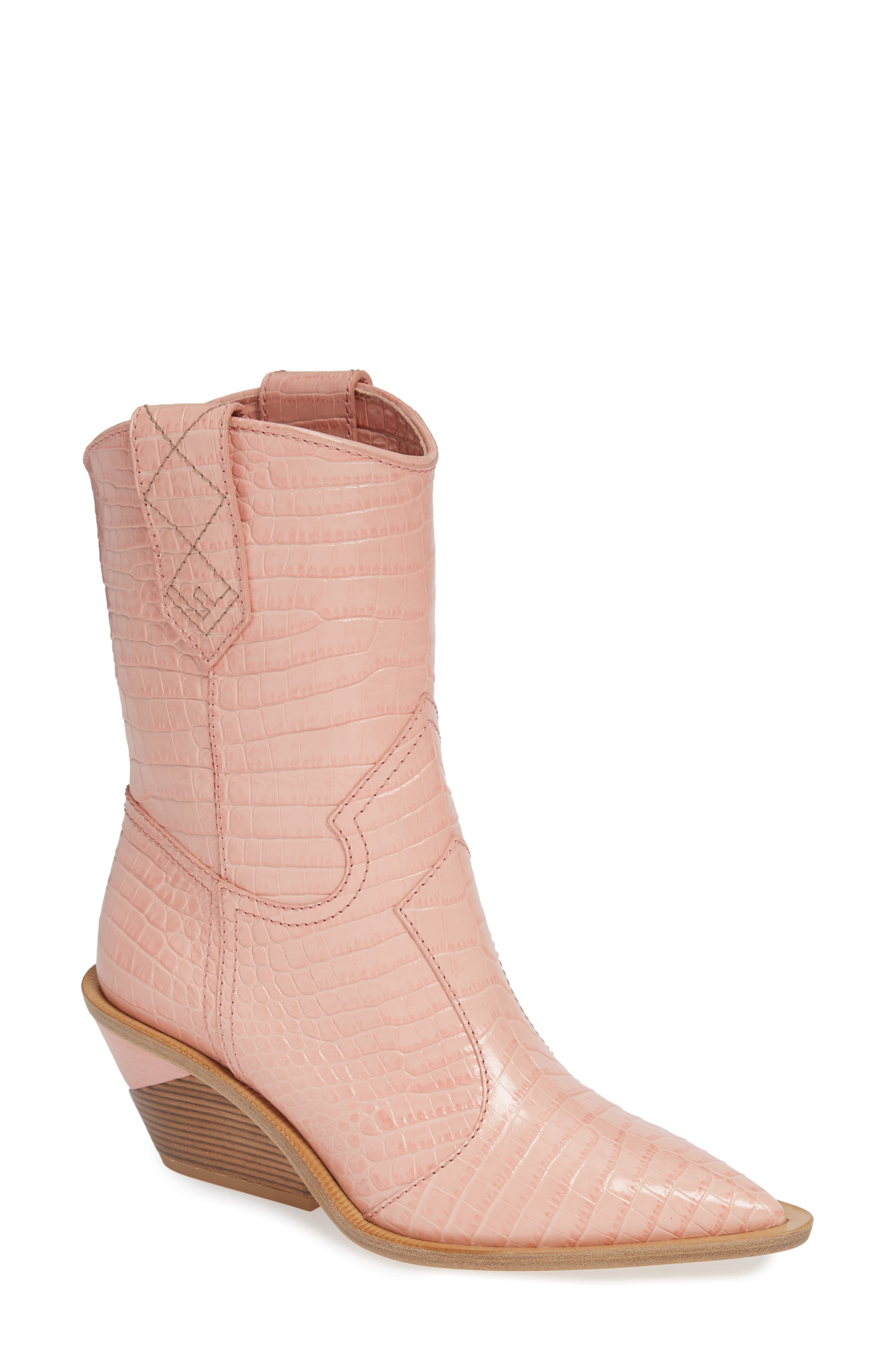 Cutwalk Mid Boot,                         Main,                         color, BABY PINK