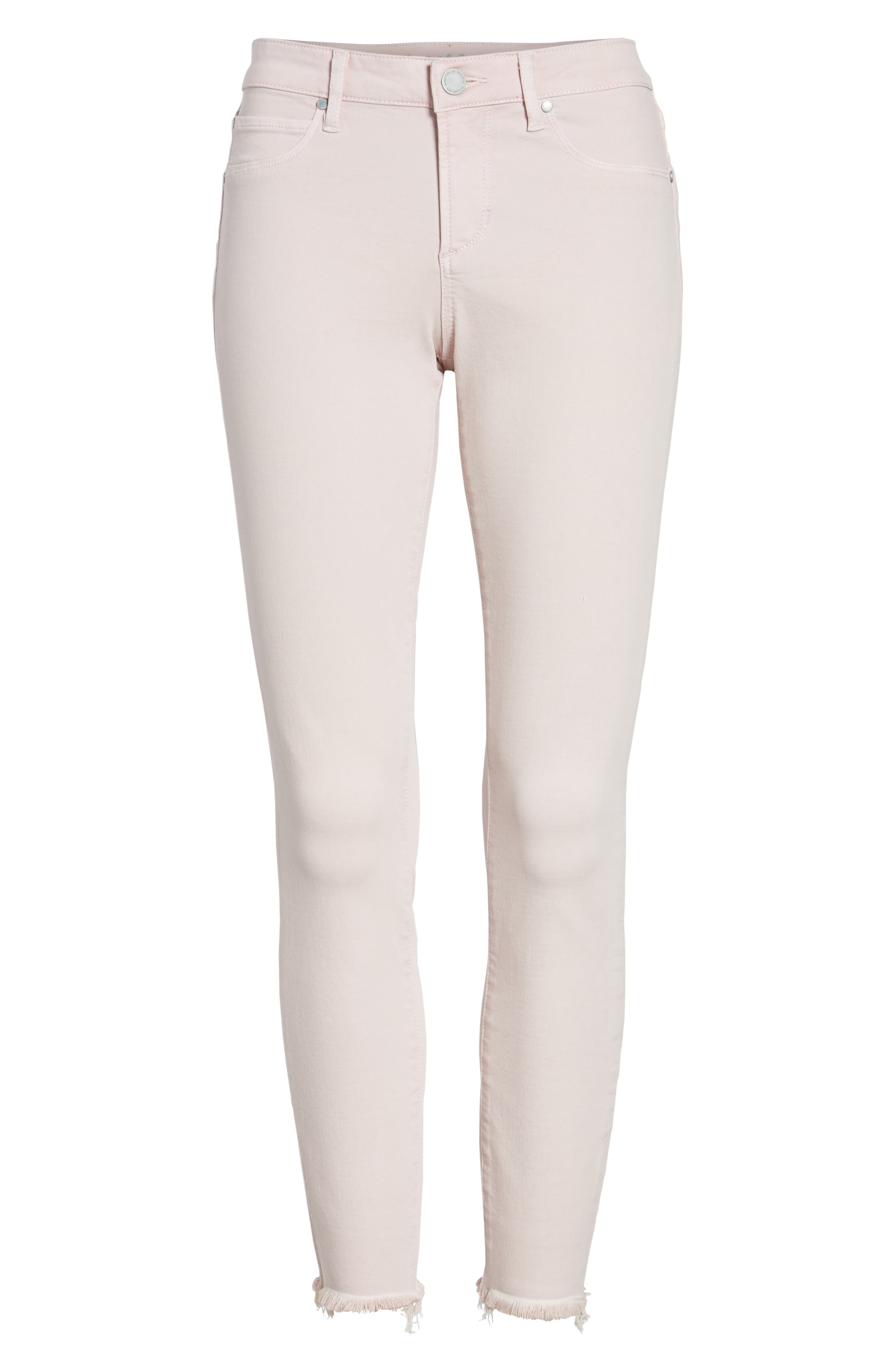 Carly Raw Hem Ankle Skinny Jeans,                             Alternate thumbnail 7, color,                             650