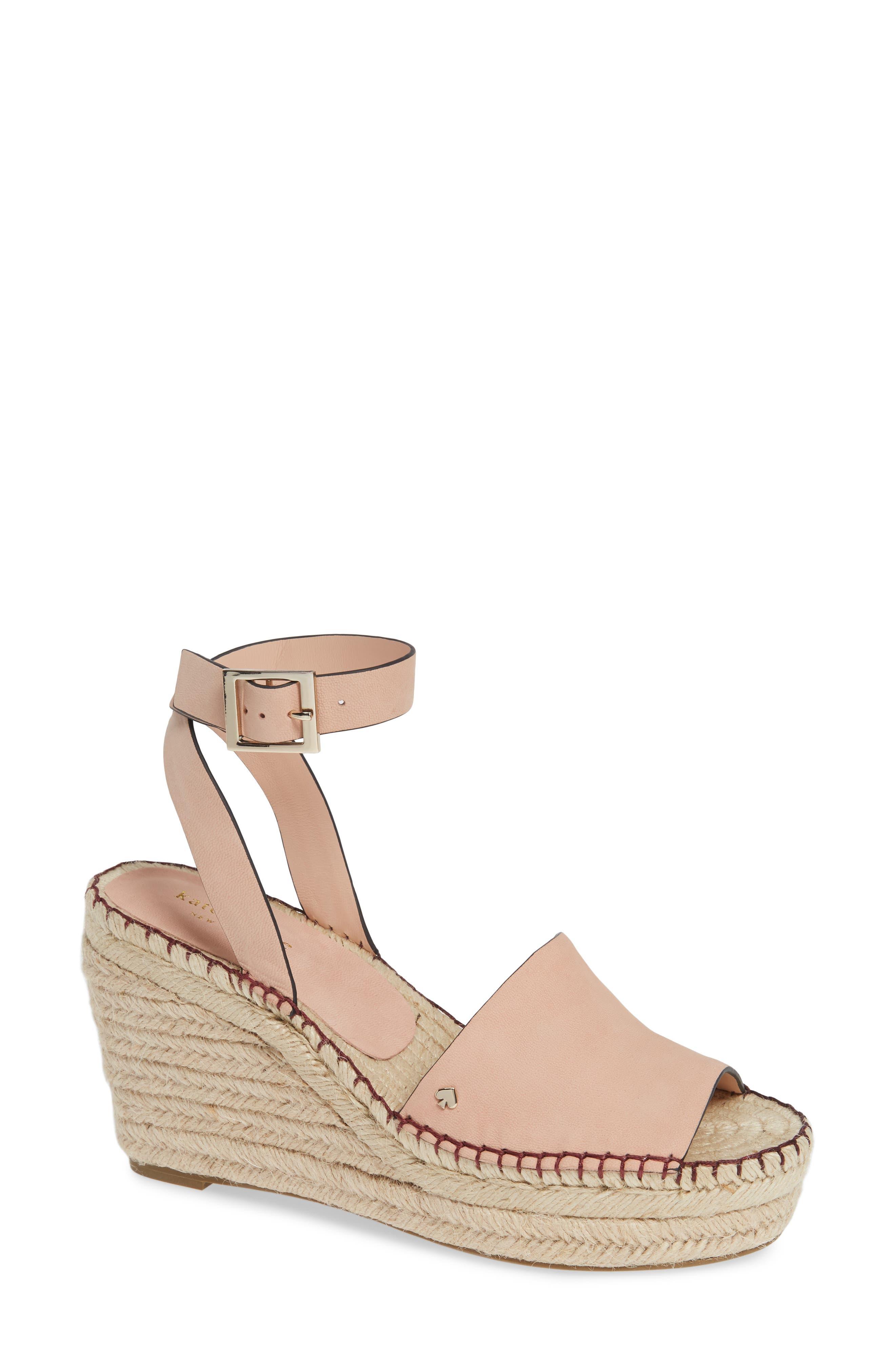 felipa wedge sandal, Main, color, CONCH SHELL NUBUK