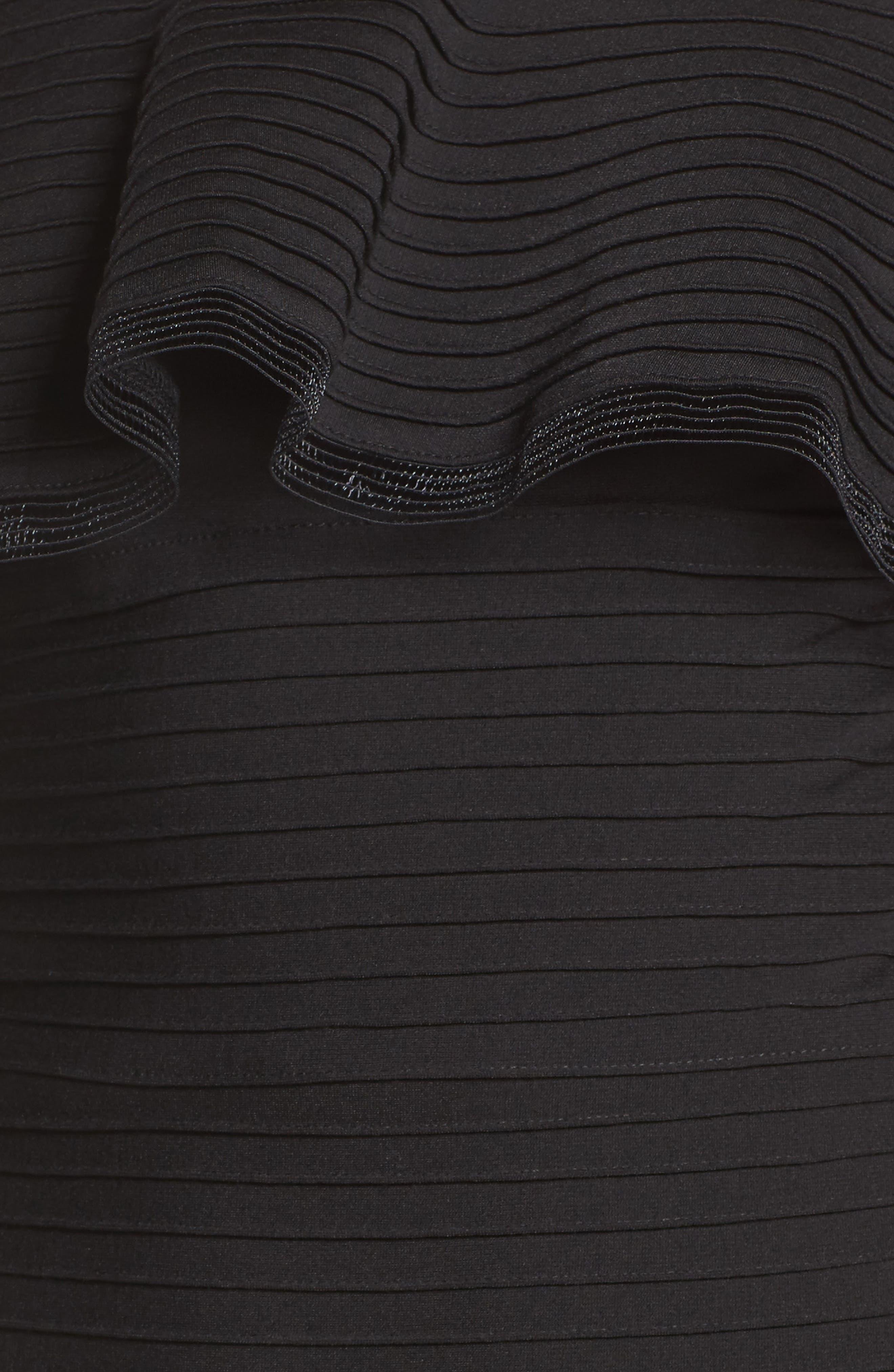 Jersey Sheath Dress,                             Alternate thumbnail 6, color,                             001