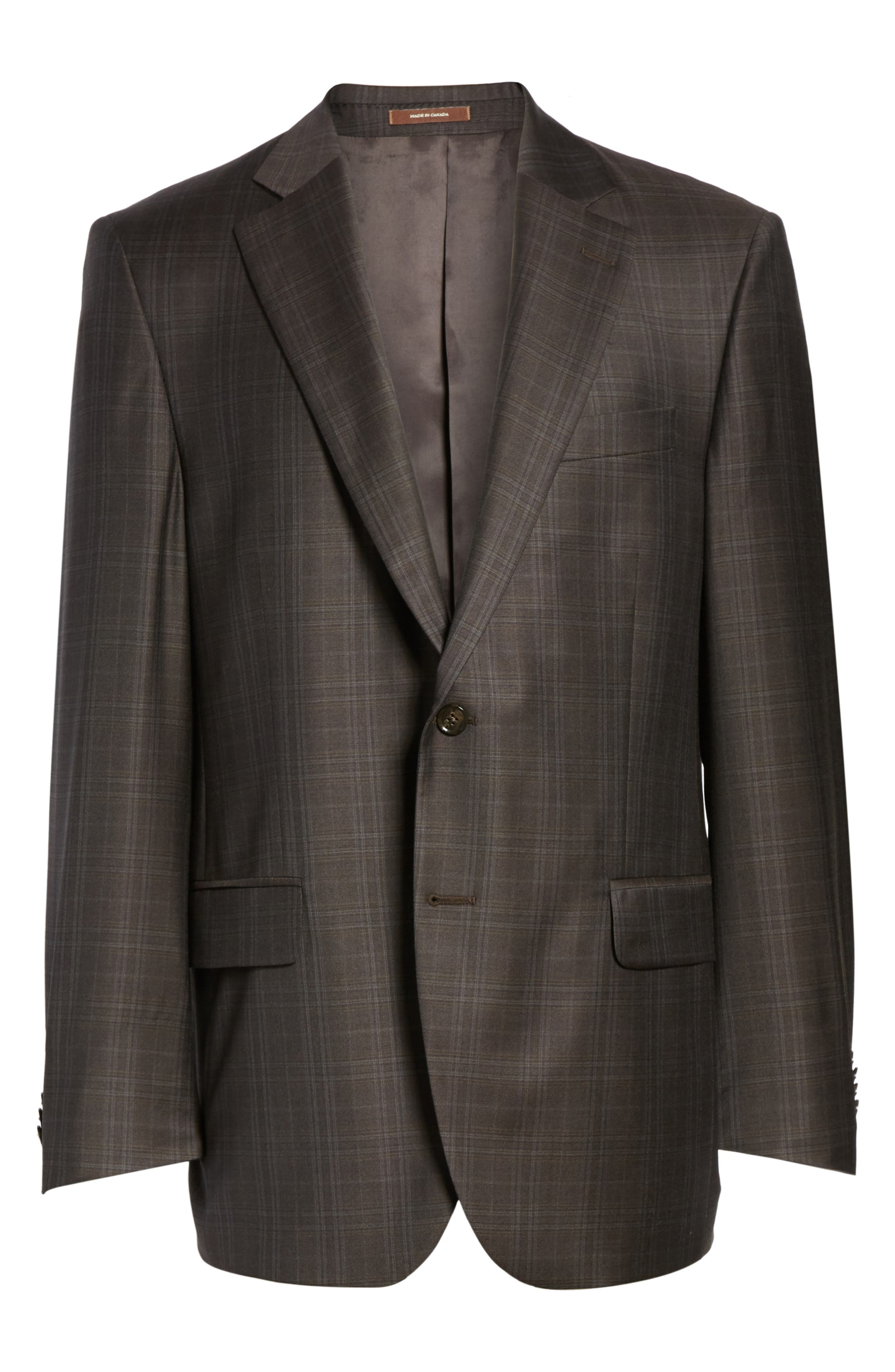 Flynn Classic Fit Plaid Wool Sport Coat,                             Alternate thumbnail 5, color,                             200