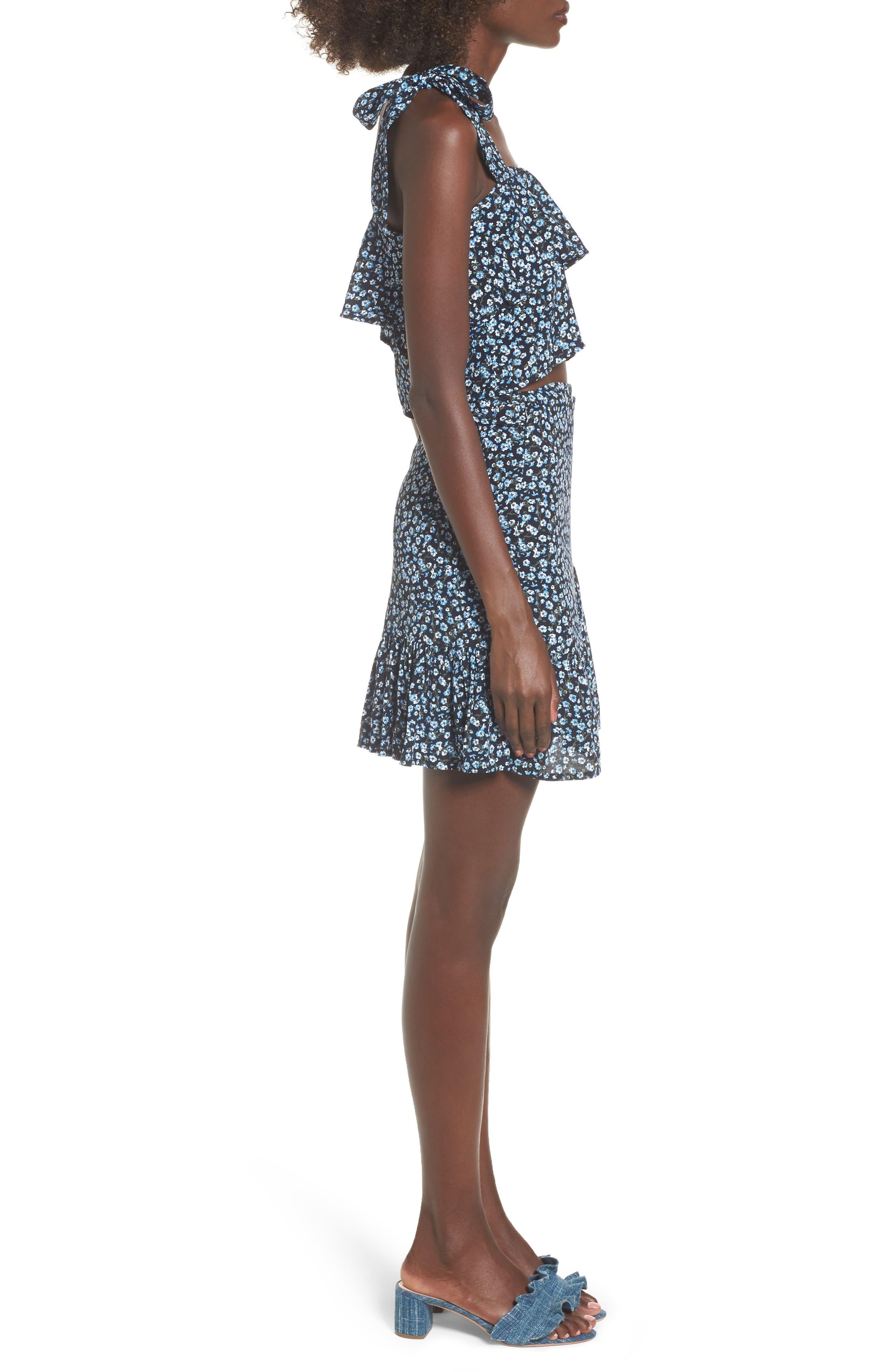Gilda Floral Skirt,                             Alternate thumbnail 9, color,