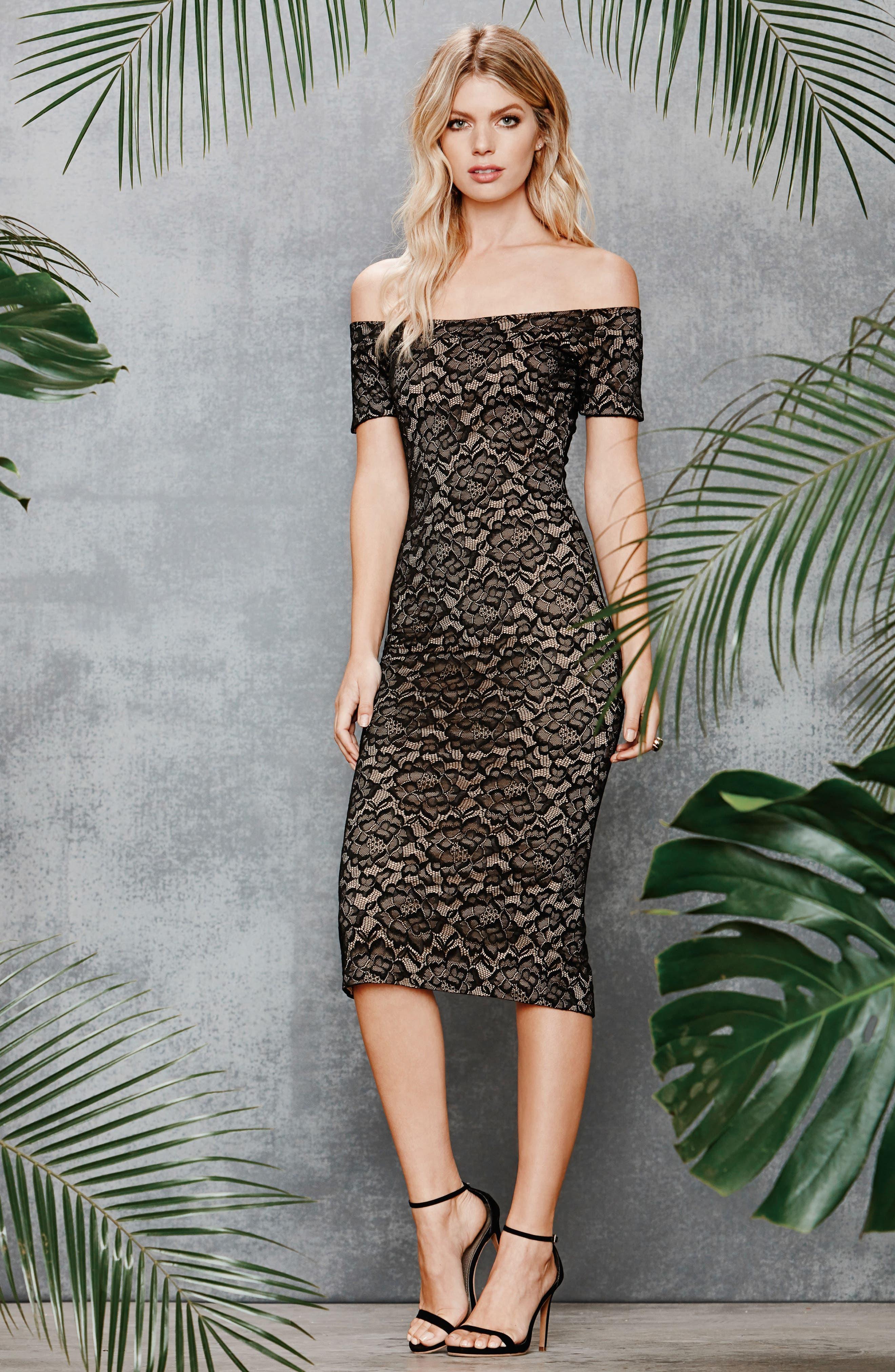 Jemma Midi Dress,                             Alternate thumbnail 5, color,                             001