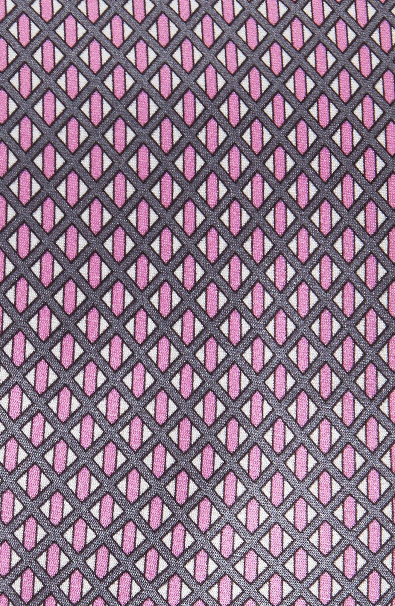 Neat Geometric Silk Tie,                             Alternate thumbnail 2, color,                             502