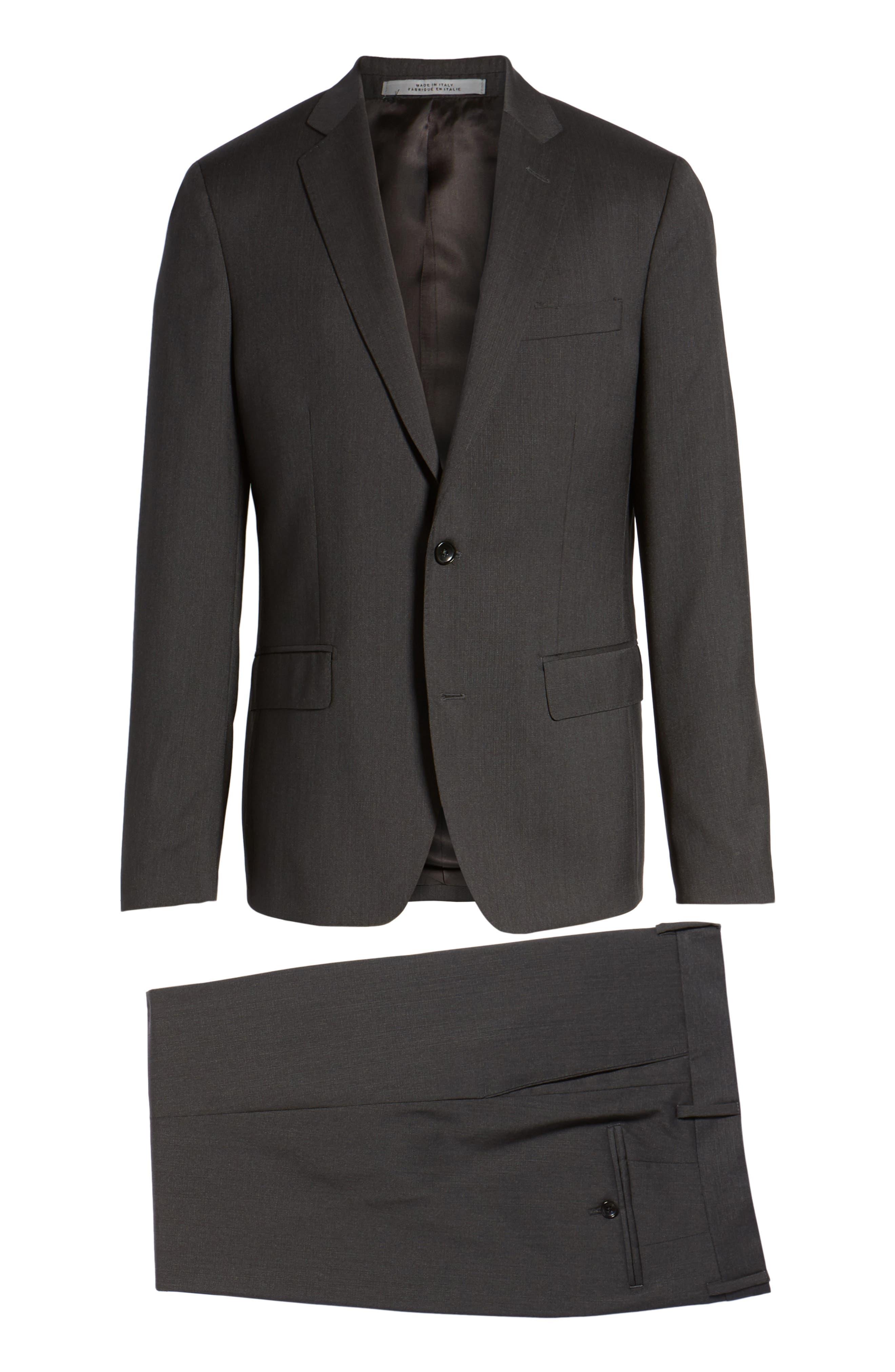 Classic Fit Check Suit,                             Alternate thumbnail 8, color,                             020
