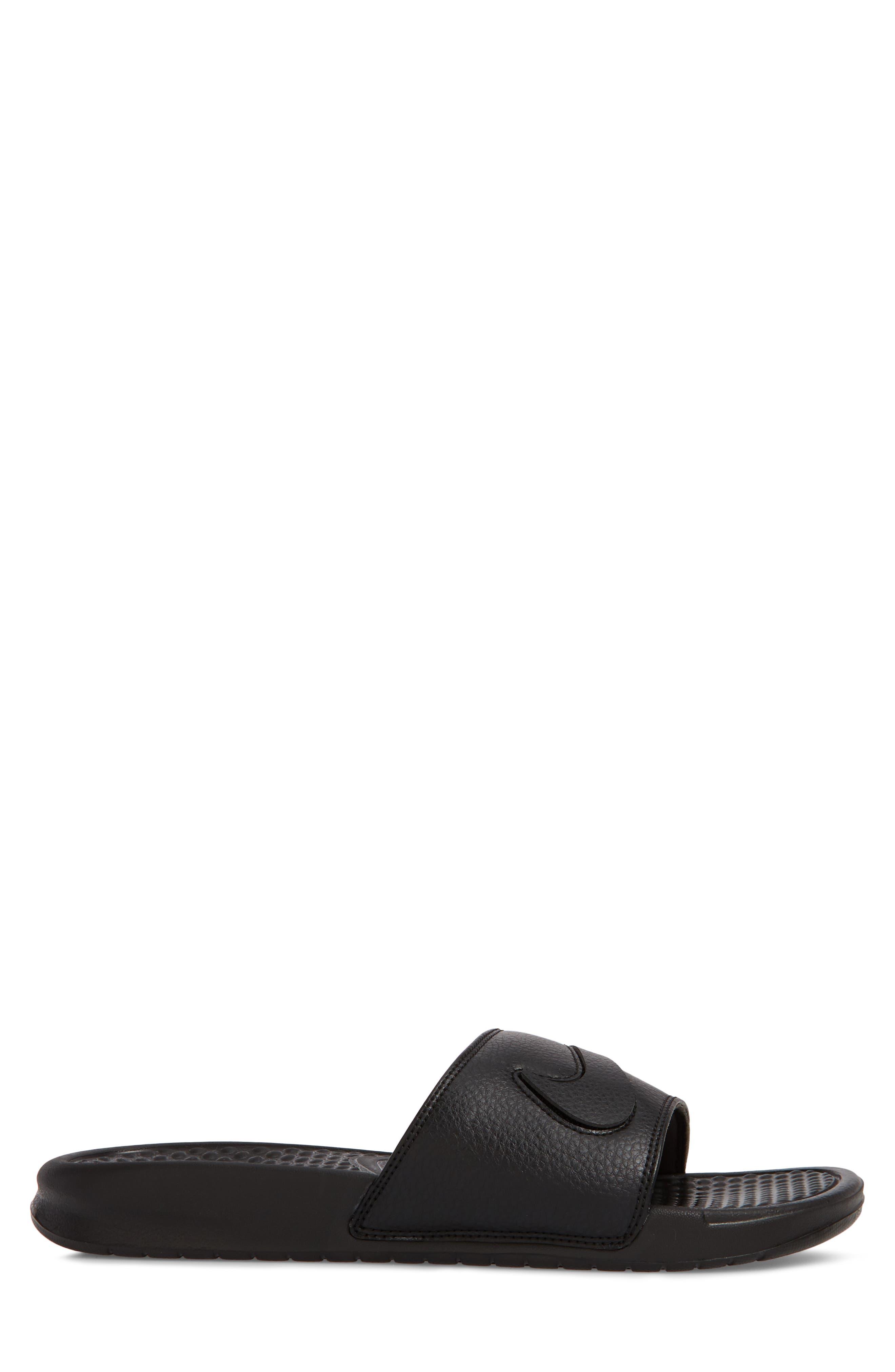 NIKE,                             Benassi JDI Customizable Slide Sandal,                             Alternate thumbnail 3, color,                             001