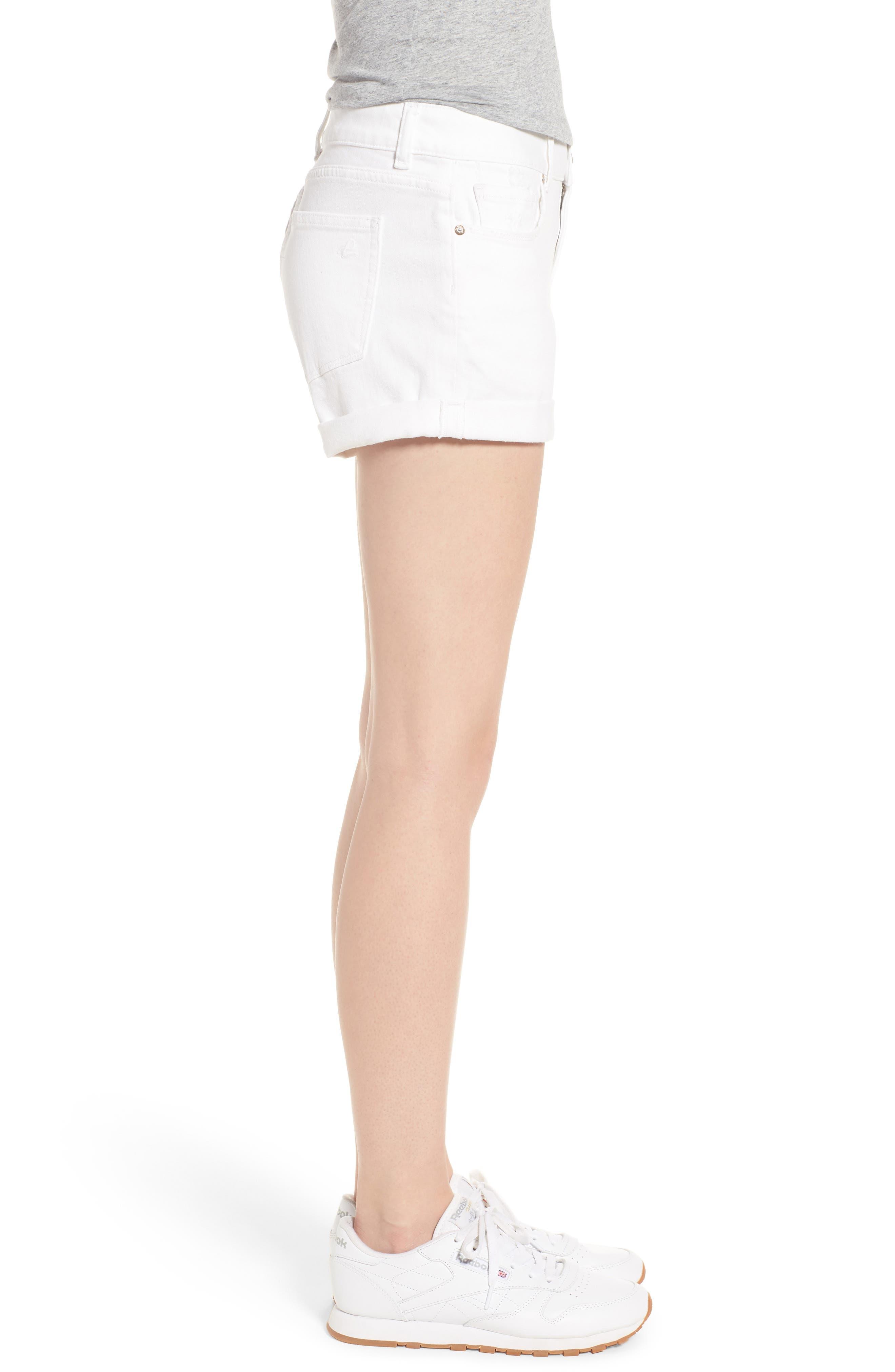 Renee Cutoff Denim Shorts,                             Alternate thumbnail 3, color,                             020