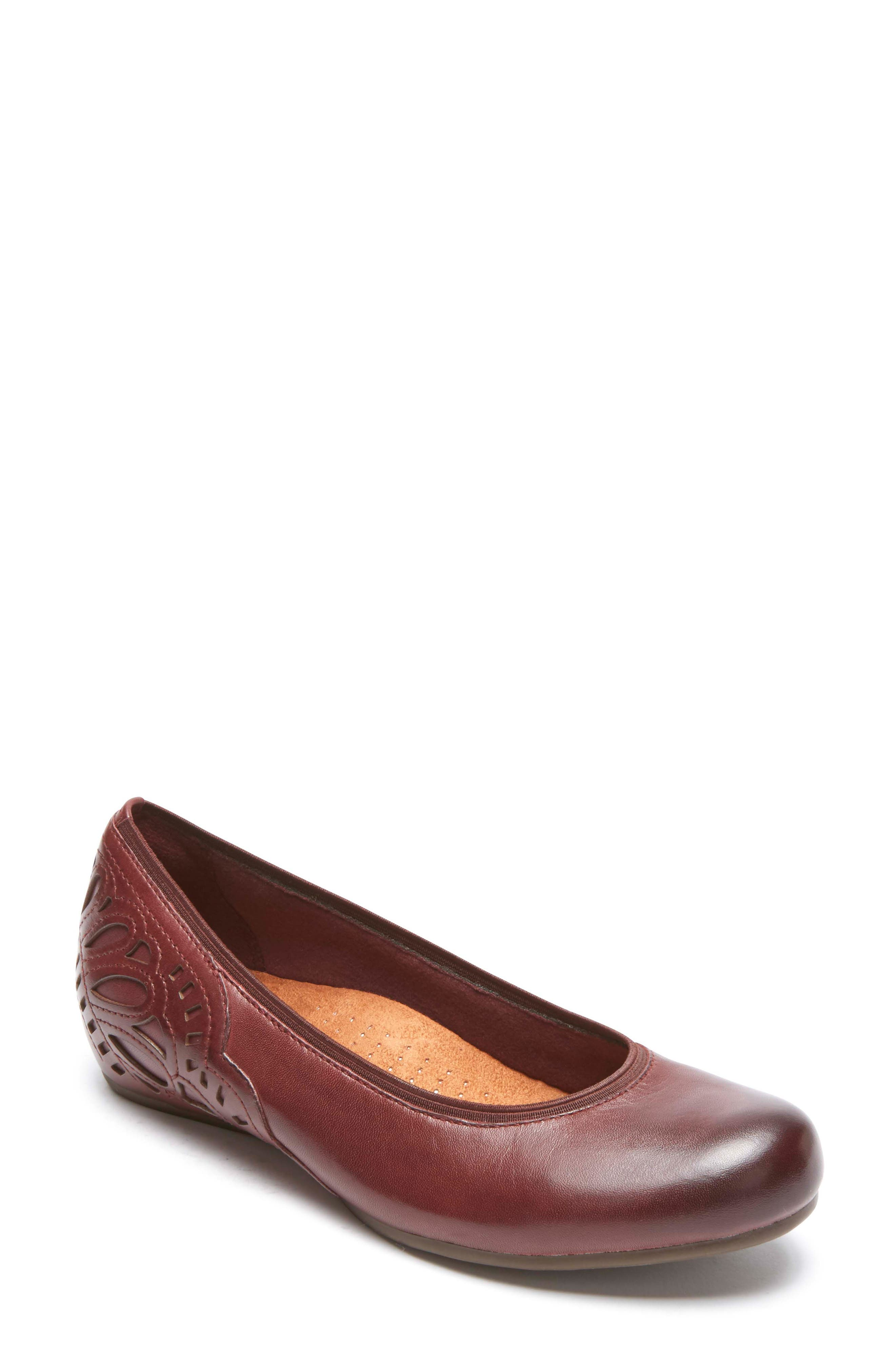 Sharleen Wedge Pump,                             Main thumbnail 1, color,                             MERLOT LEATHER
