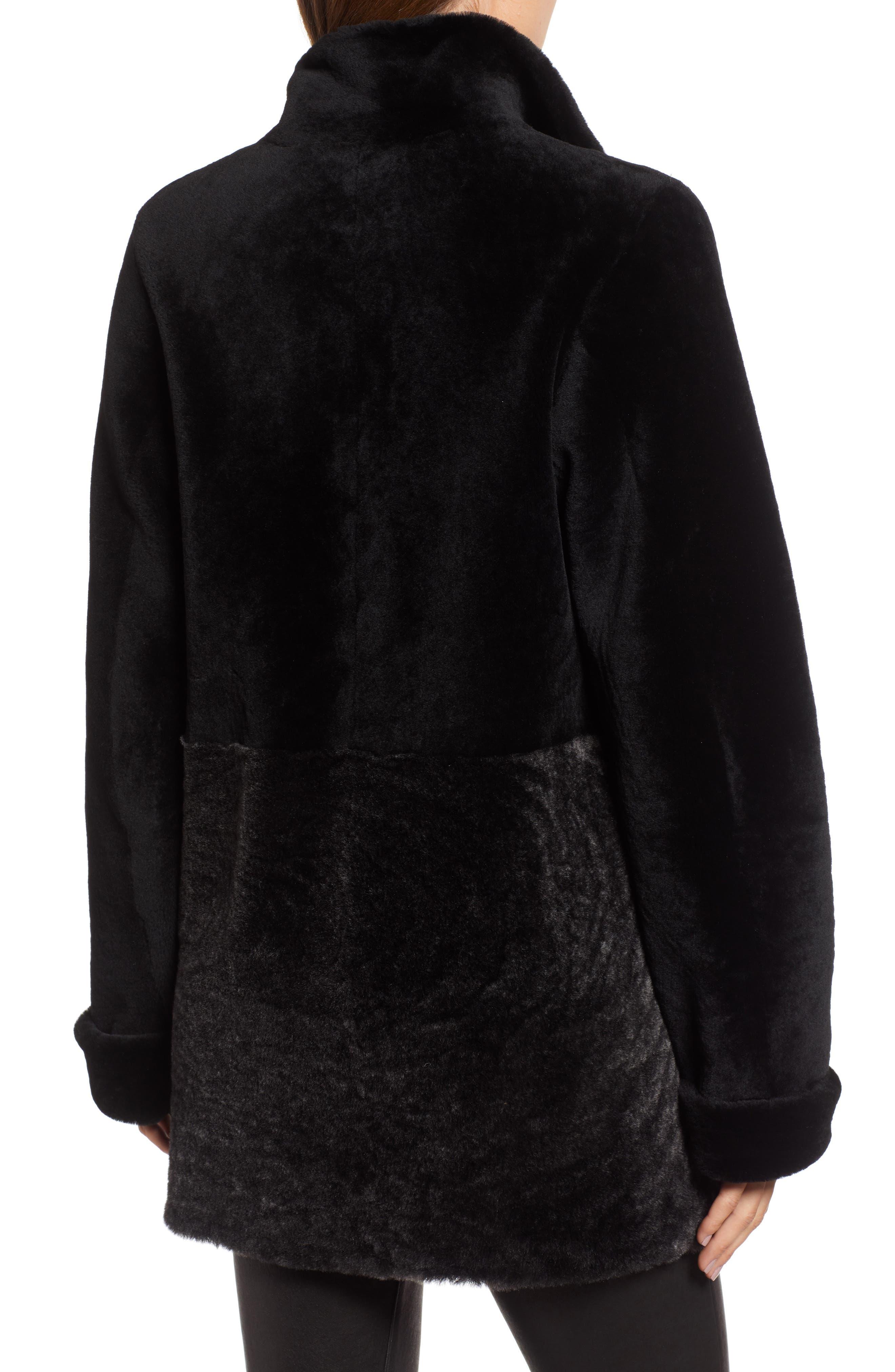 Genuine Shearling Coat,                             Alternate thumbnail 2, color,                             003