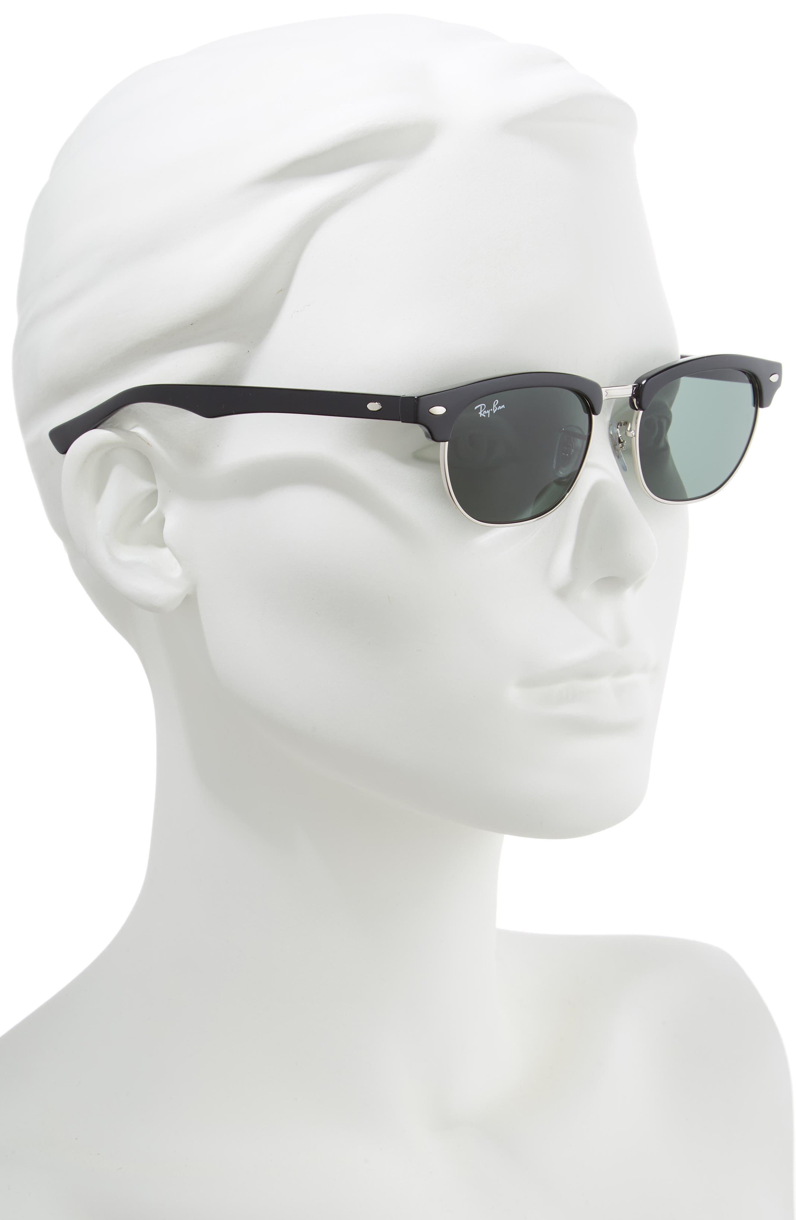 Junior Clubmaster 47mm Sunglasses,                             Alternate thumbnail 2, color,                             001