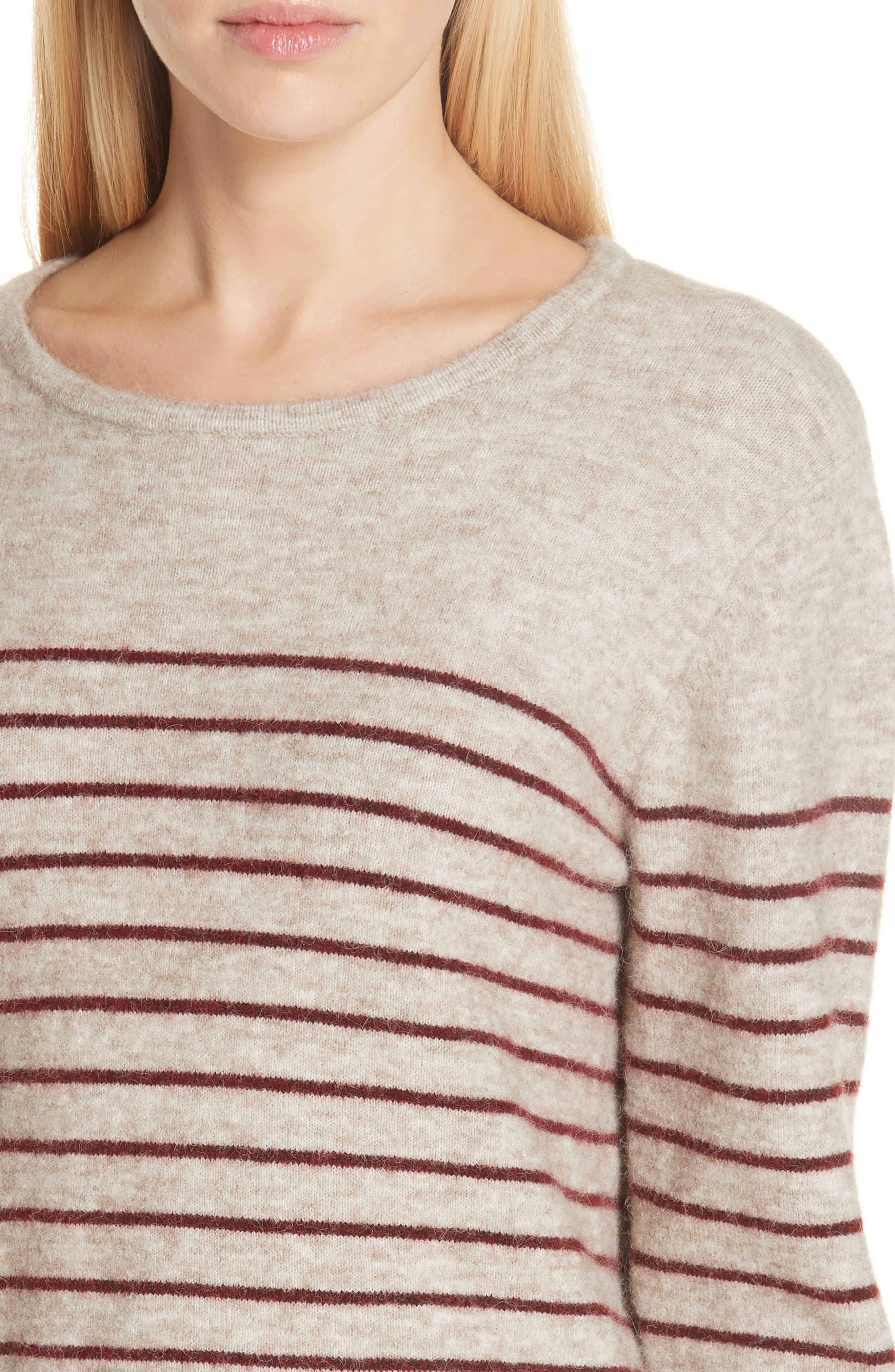Artaud Stripe Sweater,                             Alternate thumbnail 4, color,                             BEIGE