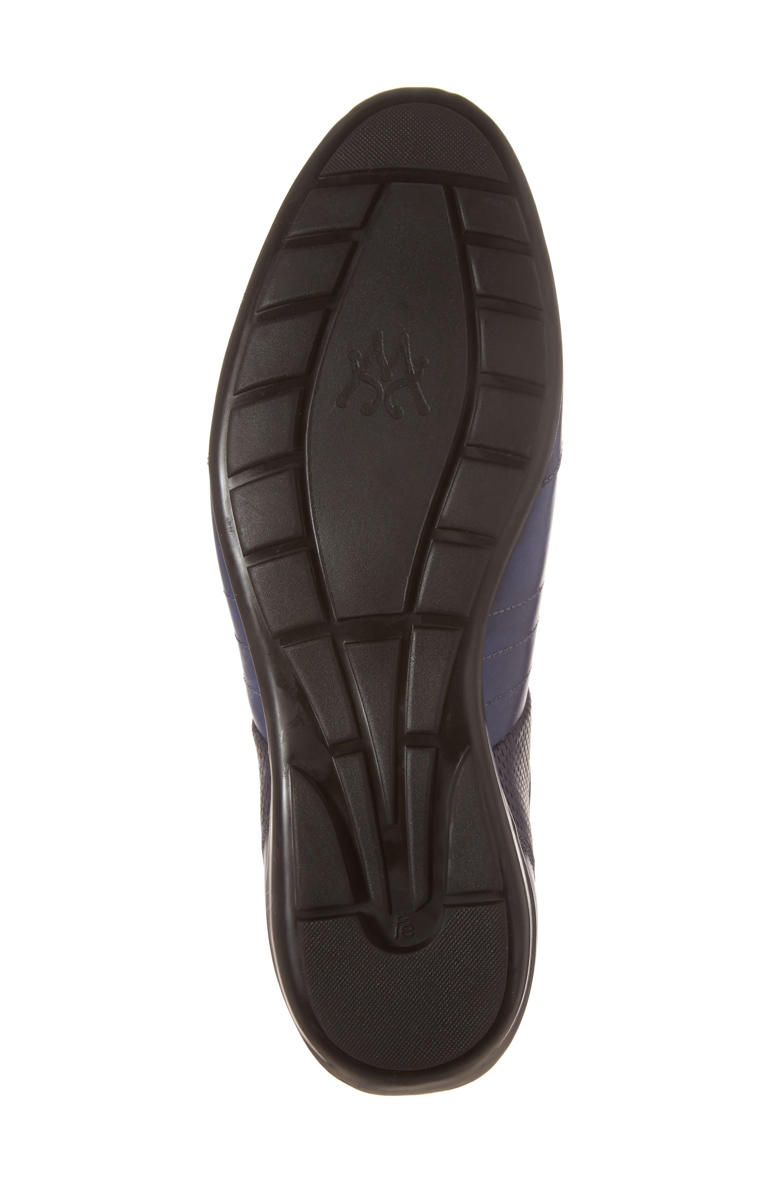MEZLAN,                             Redon Embossed Sneaker,                             Alternate thumbnail 6, color,                             BLUE LEATHER