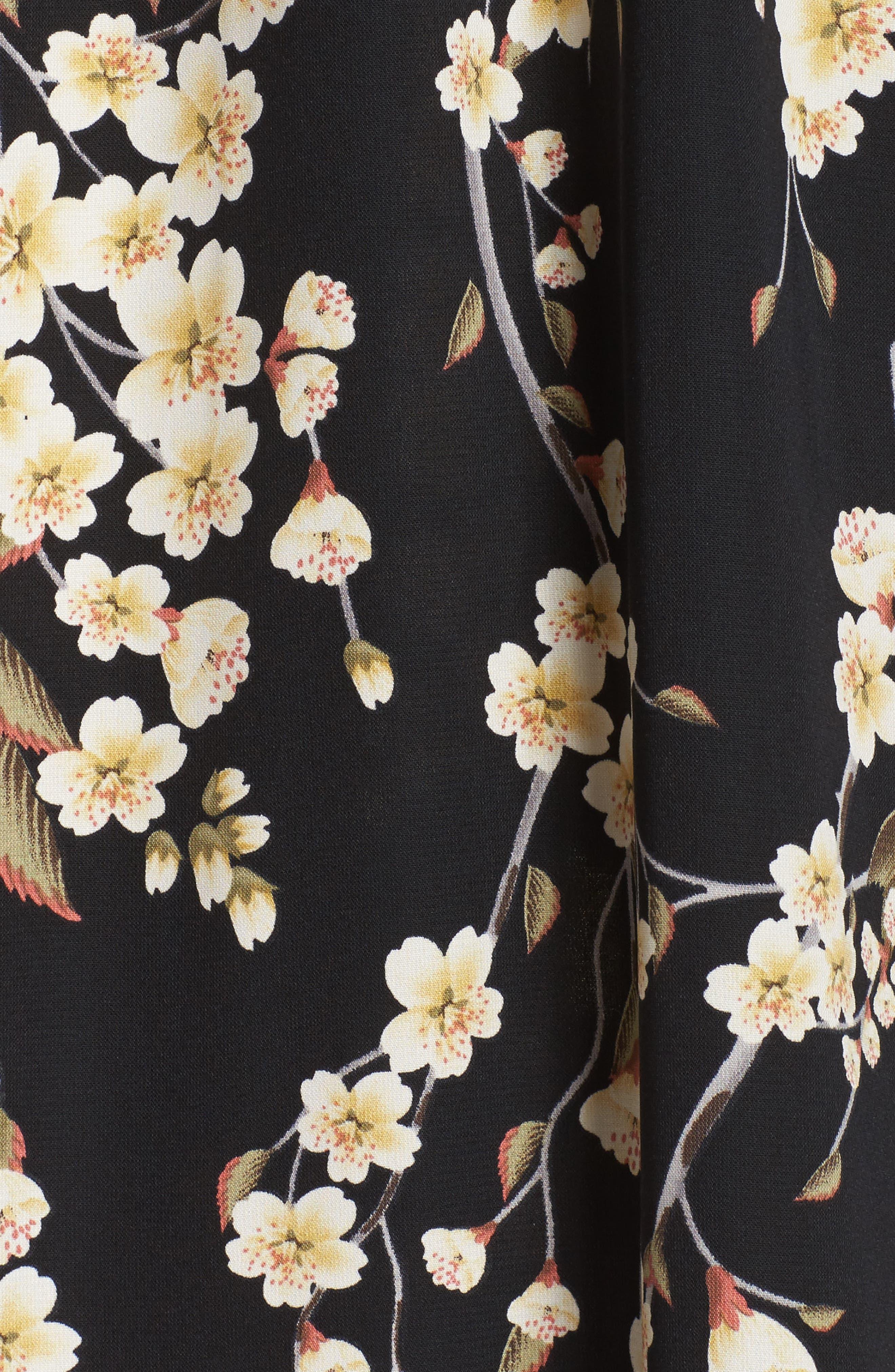 Floral Blouson Dress,                             Alternate thumbnail 5, color,                             002