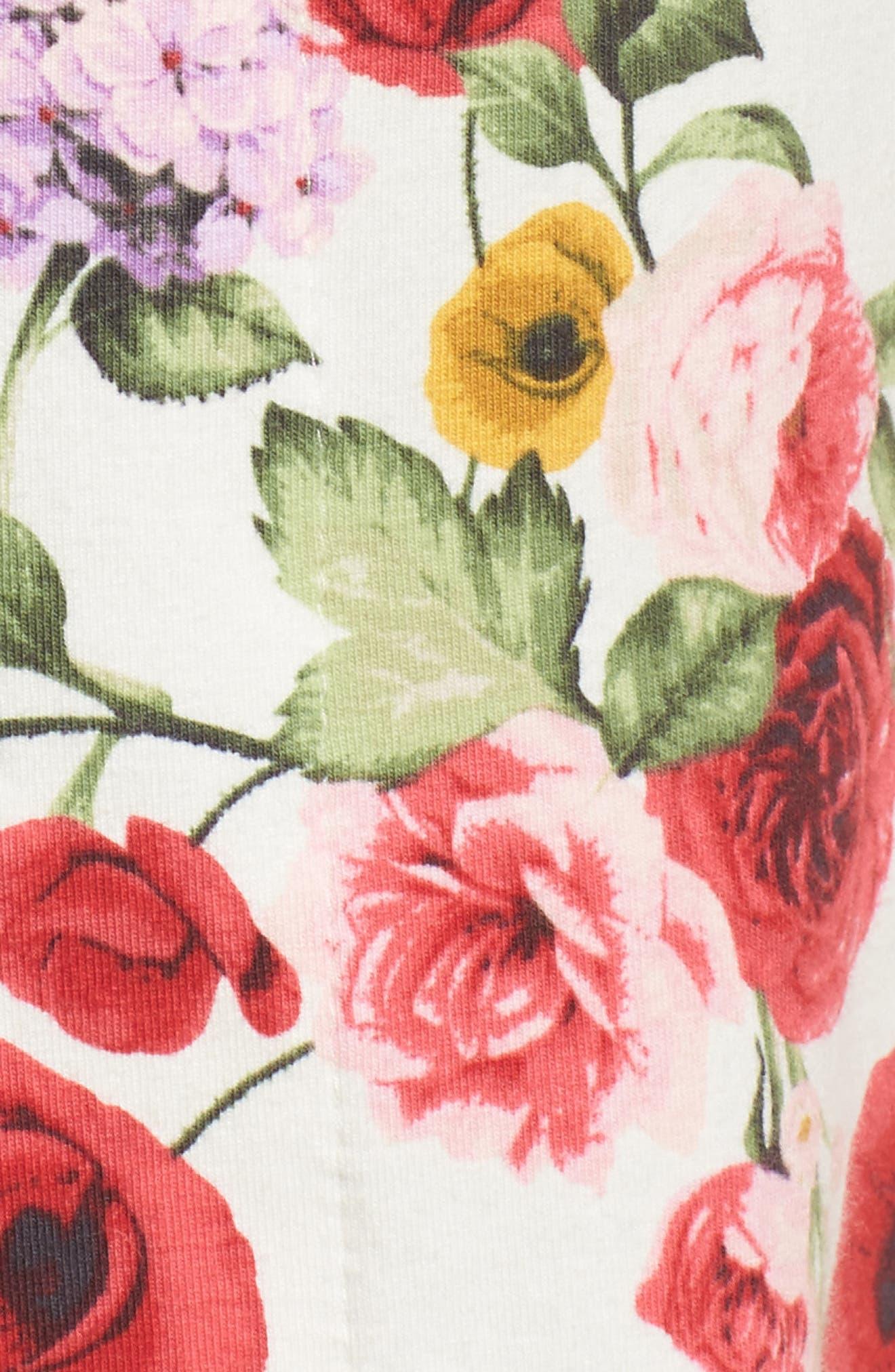 Flower Print Pajamas,                             Alternate thumbnail 5, color,                             650