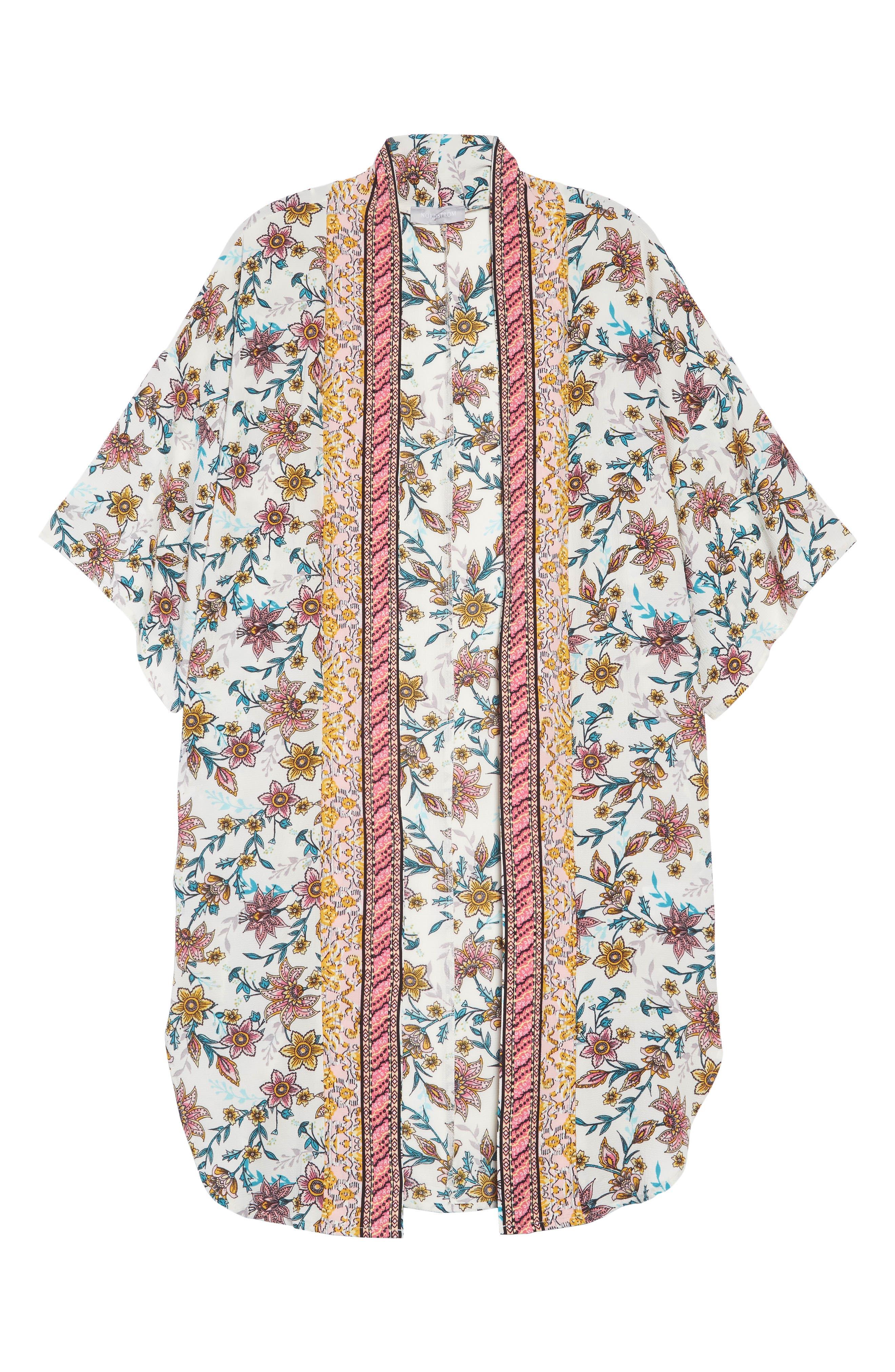 Print Kimono,                             Alternate thumbnail 6, color,                             100