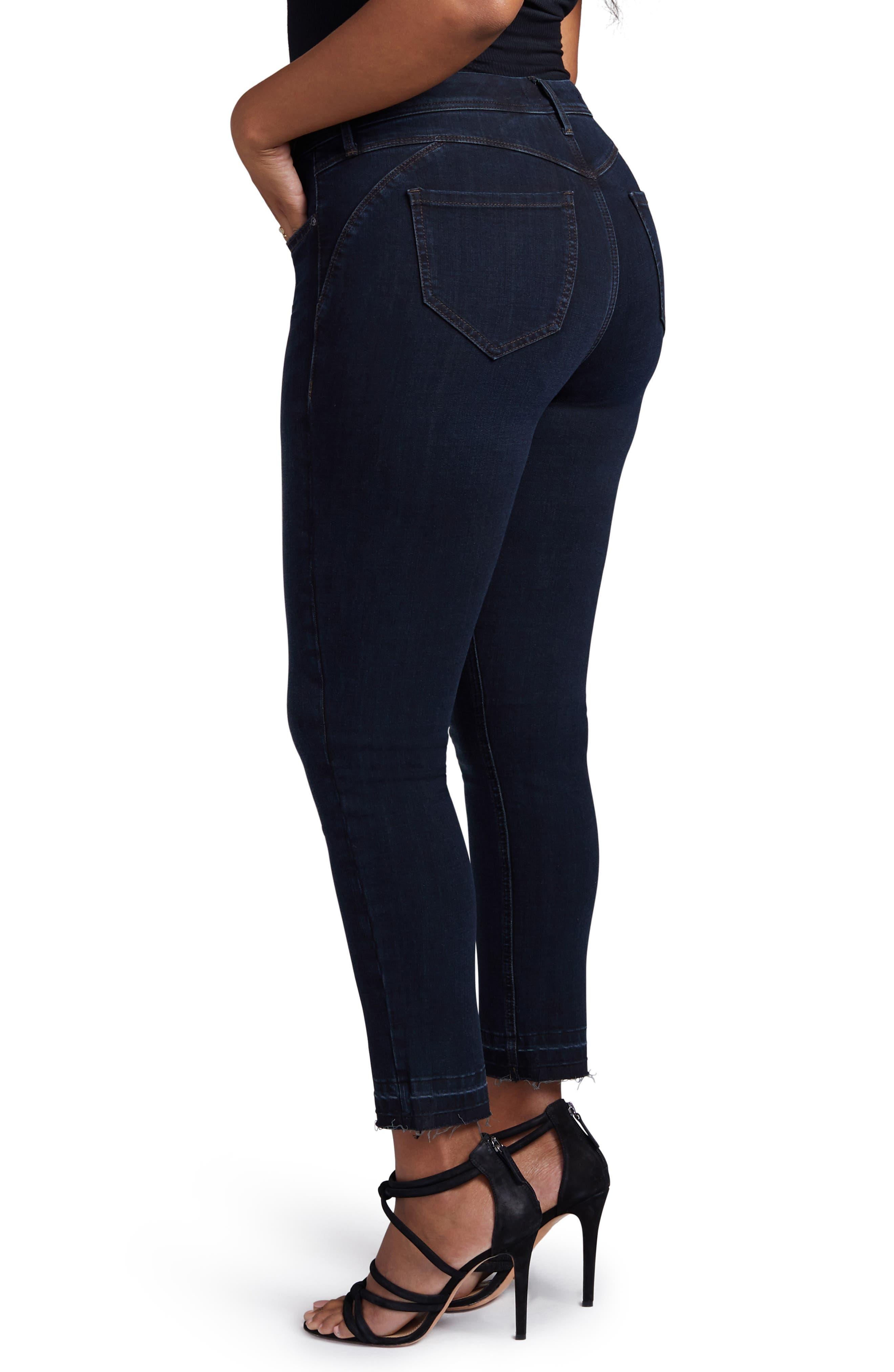 Boost Release Hem Skinny Jeans,                             Alternate thumbnail 3, color,                             WINDSOR