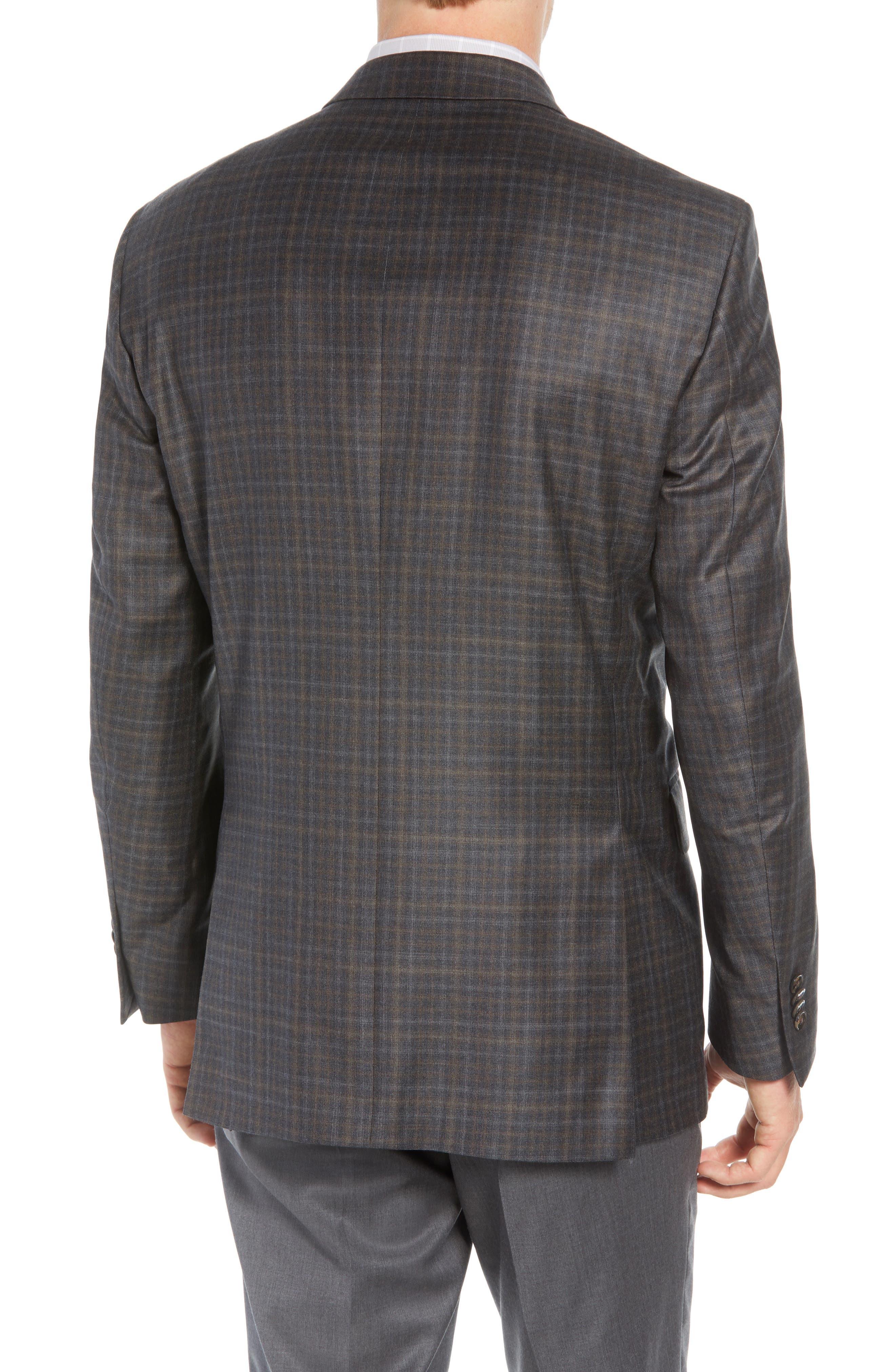 Classic Fit Wool Sport Coat,                             Alternate thumbnail 2, color,                             BROWN