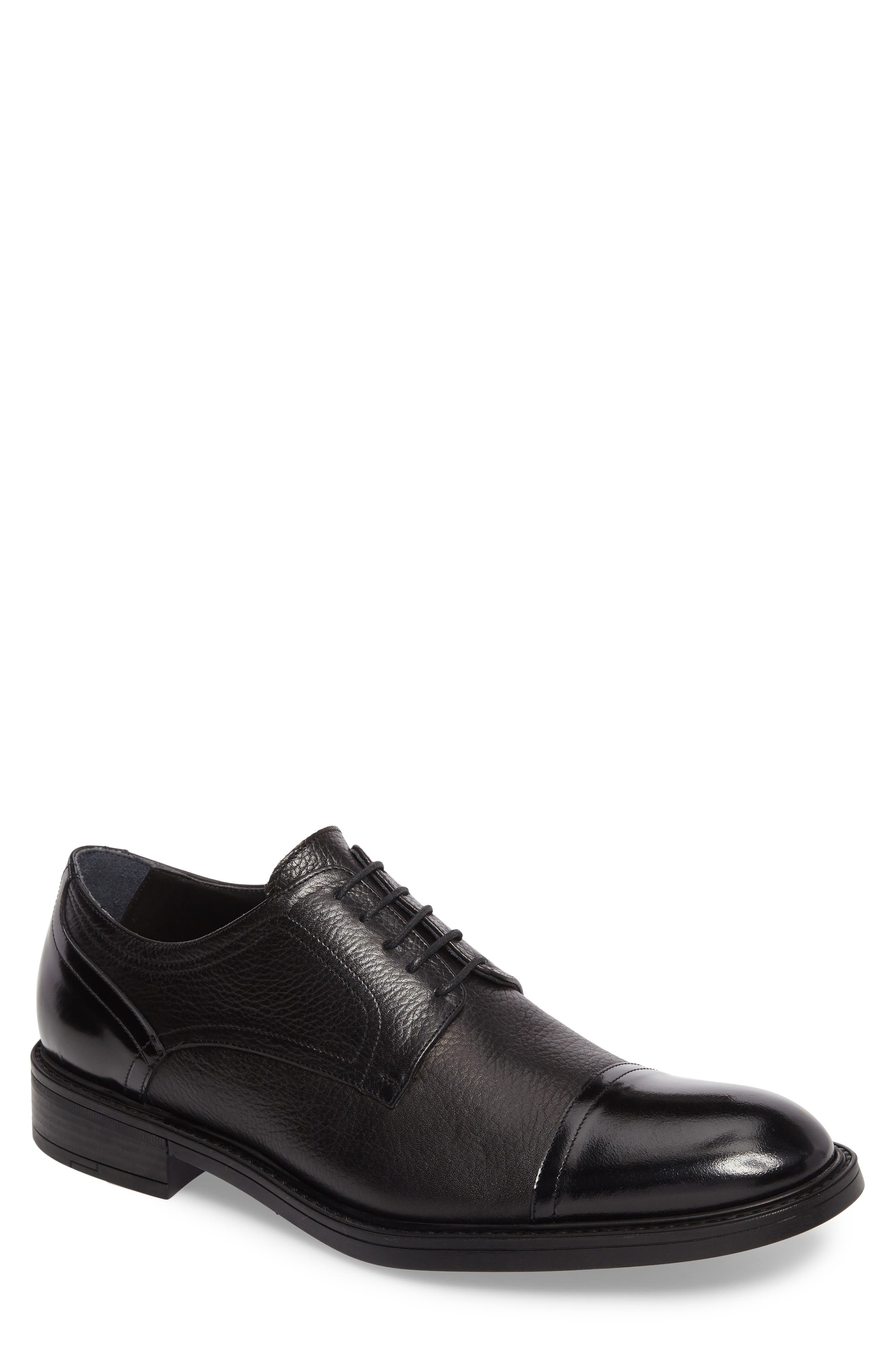 Cap Toe Derby,                         Main,                         color, 001