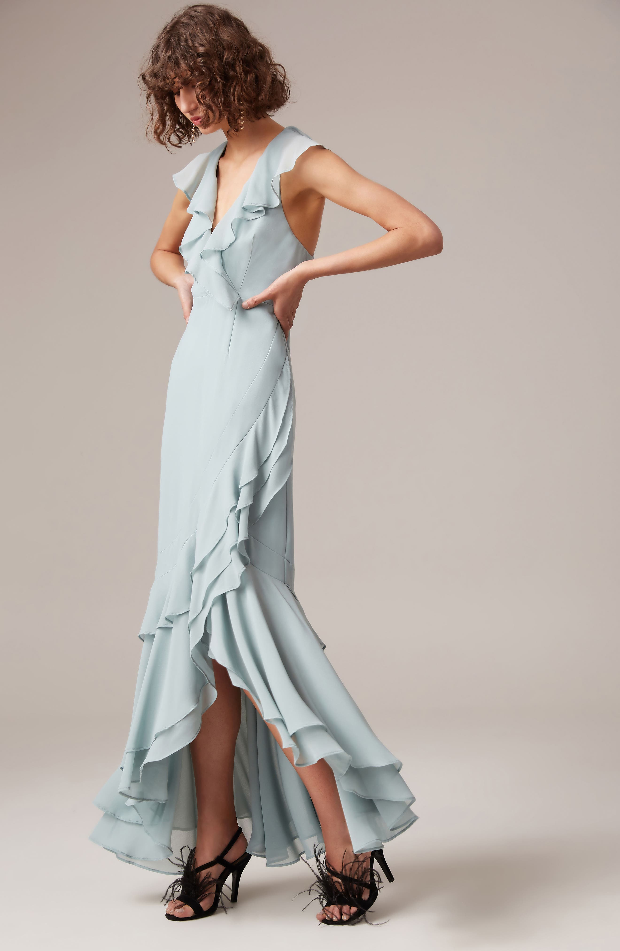 C/MEO Be About You Ruffle Gown,                             Alternate thumbnail 8, color,                             330