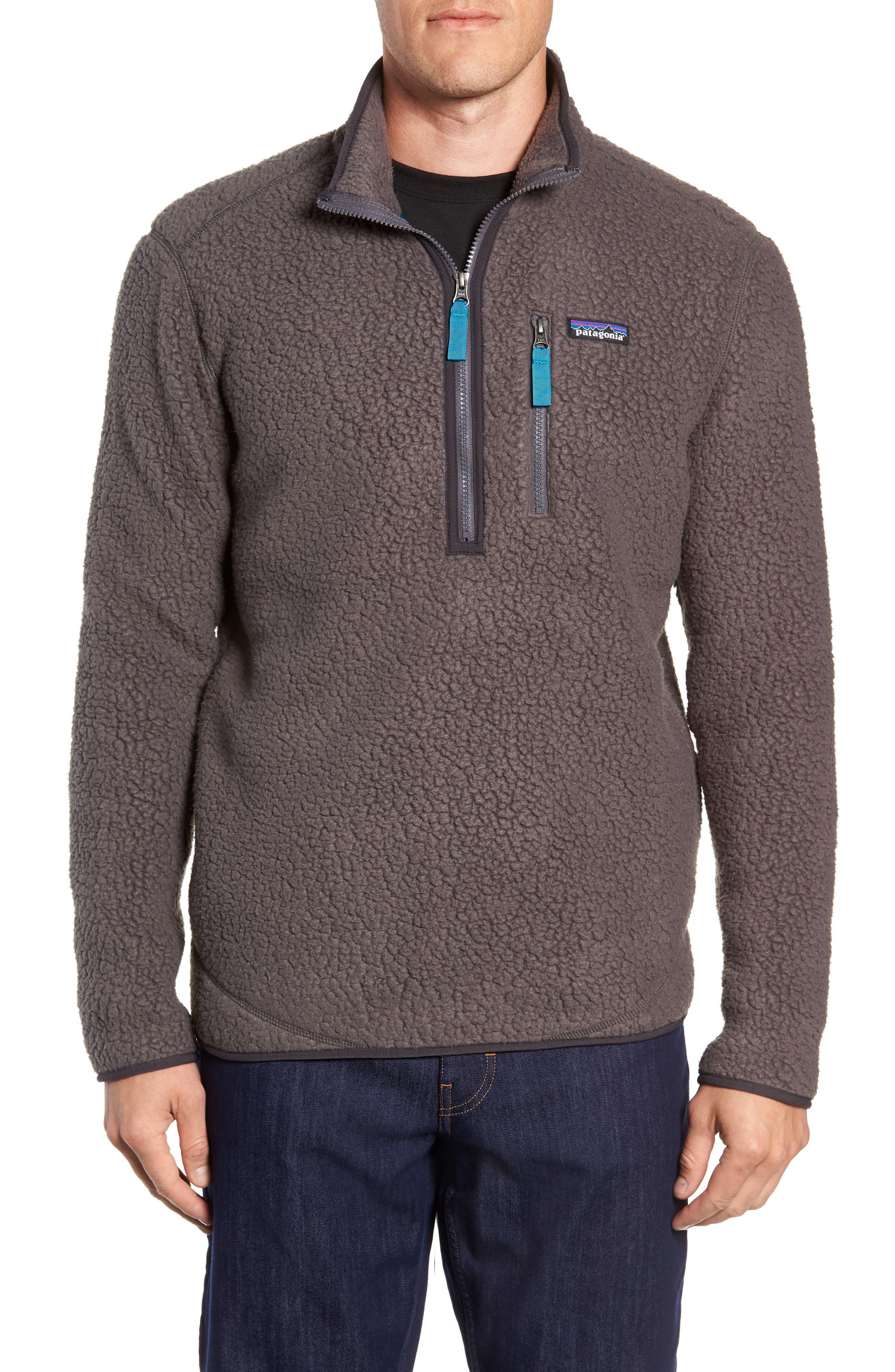 Retro Pile Fleece Zip Jacket,                             Main thumbnail 1, color,                             FORGE GREY