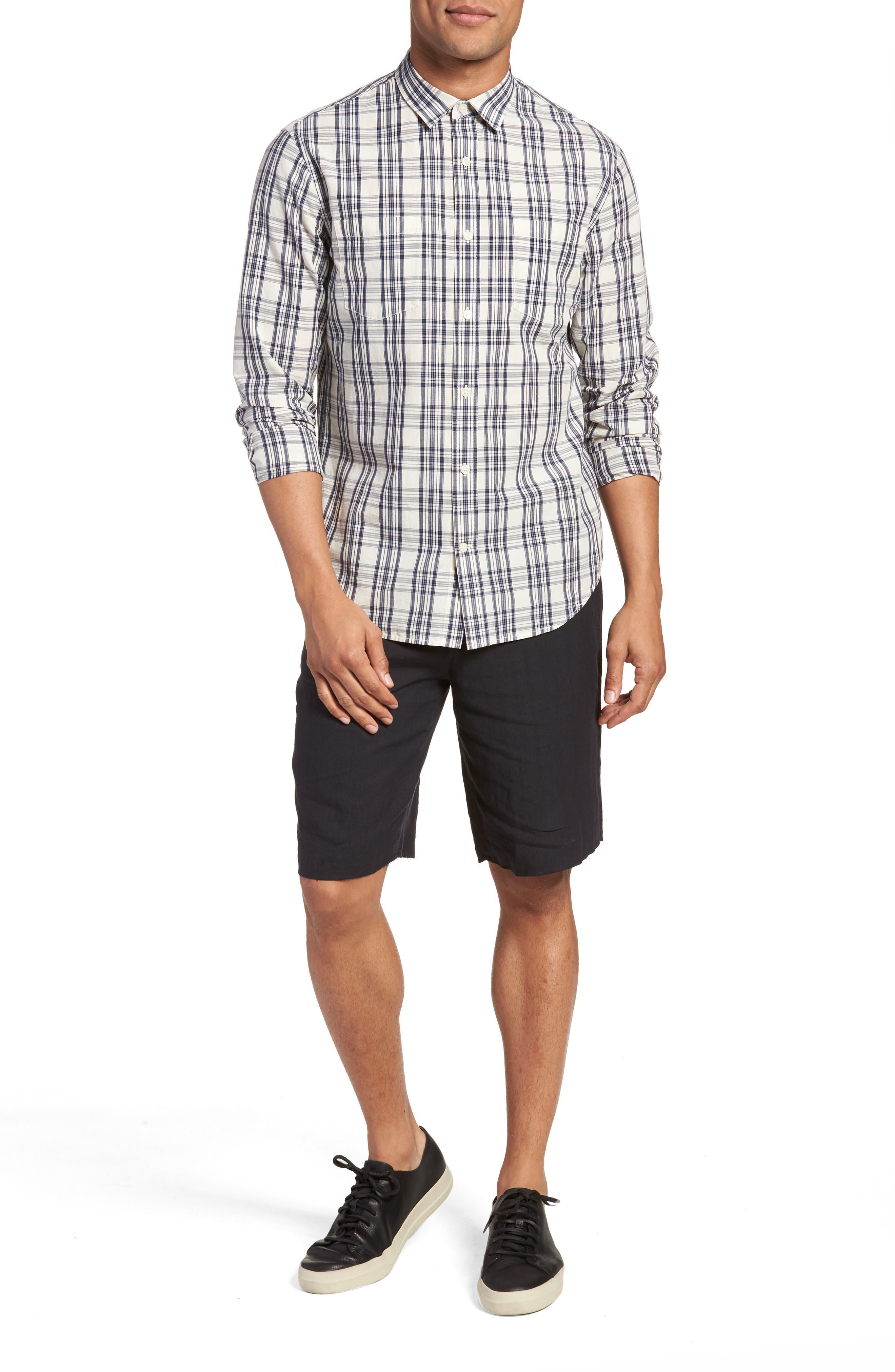 Slim Fit Plaid Sport Shirt,                             Alternate thumbnail 13, color,