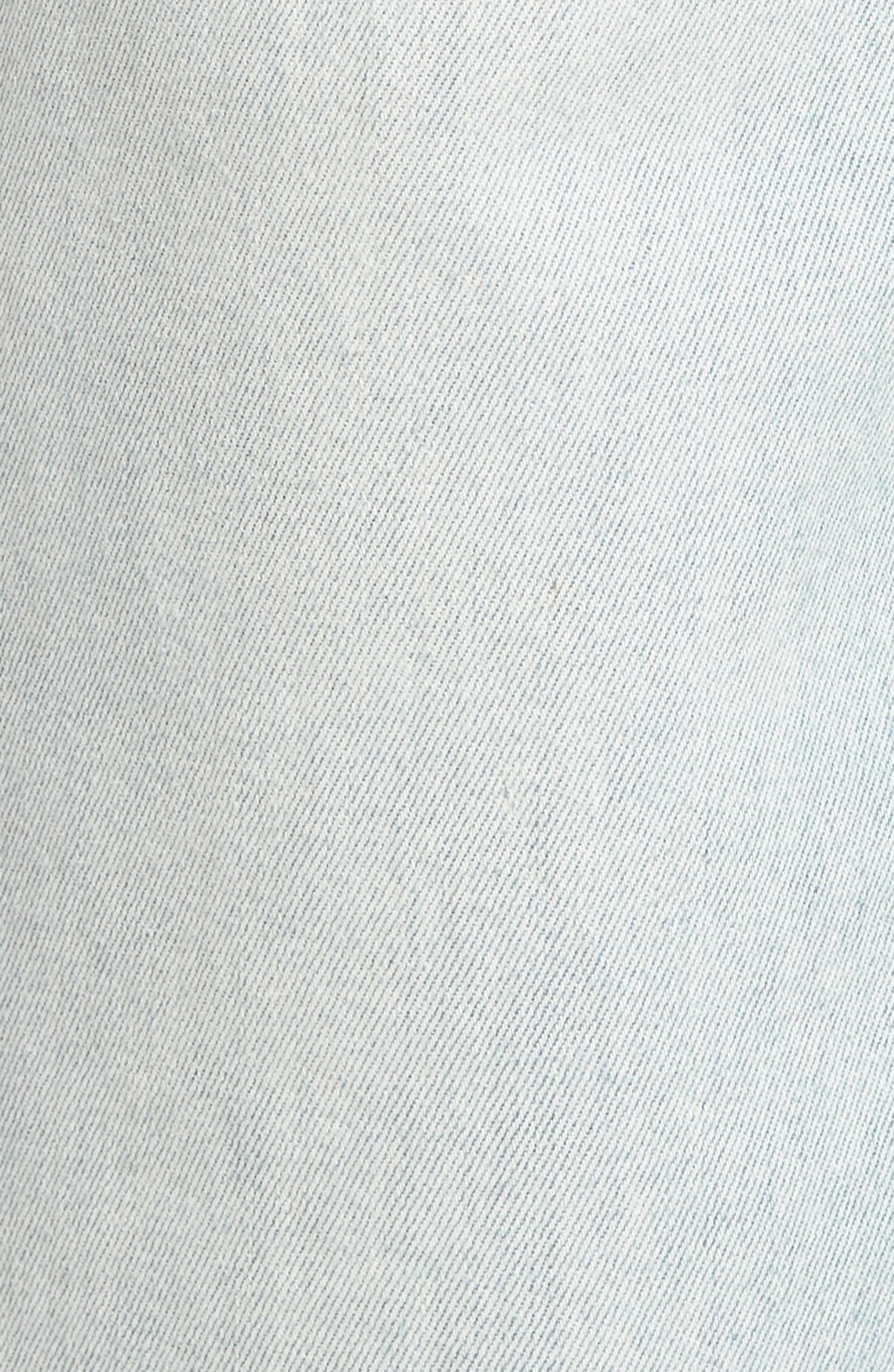 Holly High Waist Released Hem Crop Wide Leg Jeans,                             Alternate thumbnail 6, color,                             460