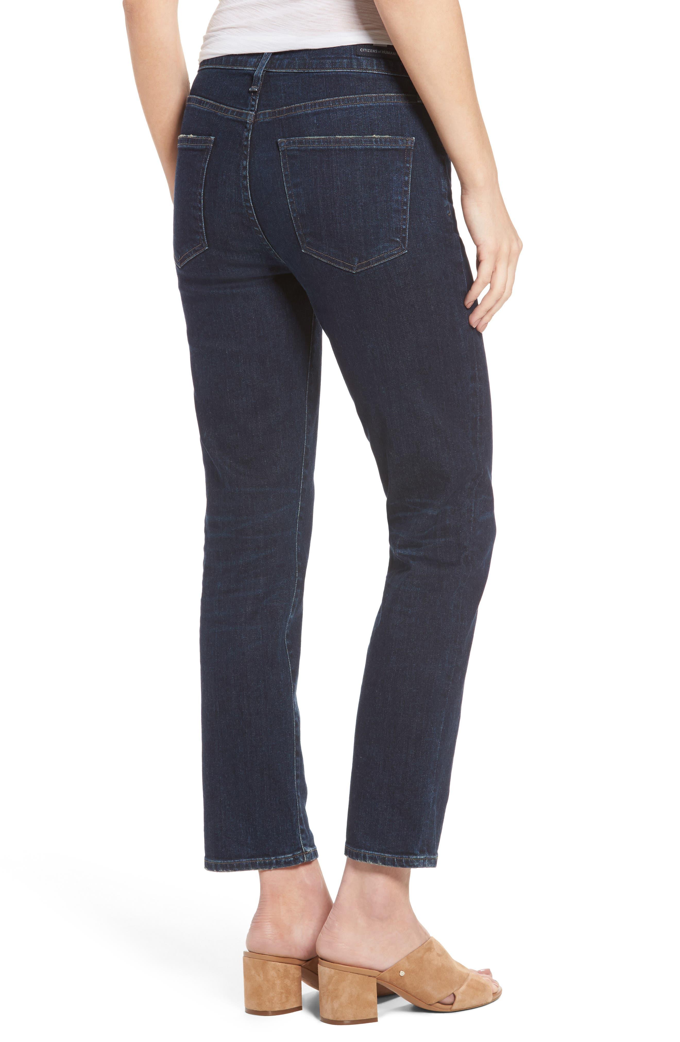 Cara Ankle Cigarette Jeans,                             Alternate thumbnail 2, color,                             401