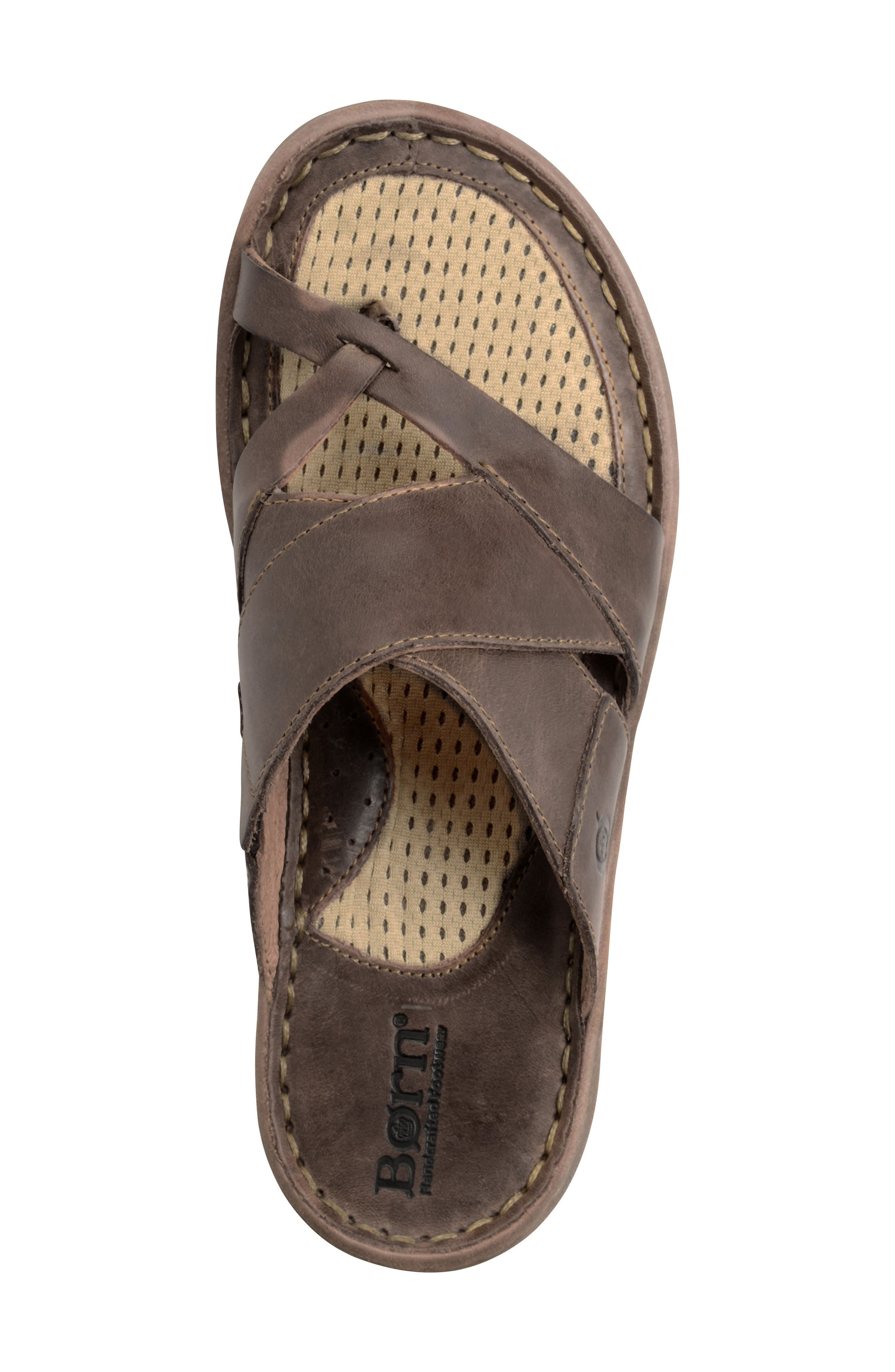 'Sorja' Leather Sandal,                             Alternate thumbnail 5, color,                             DARK BROWN LEATHER