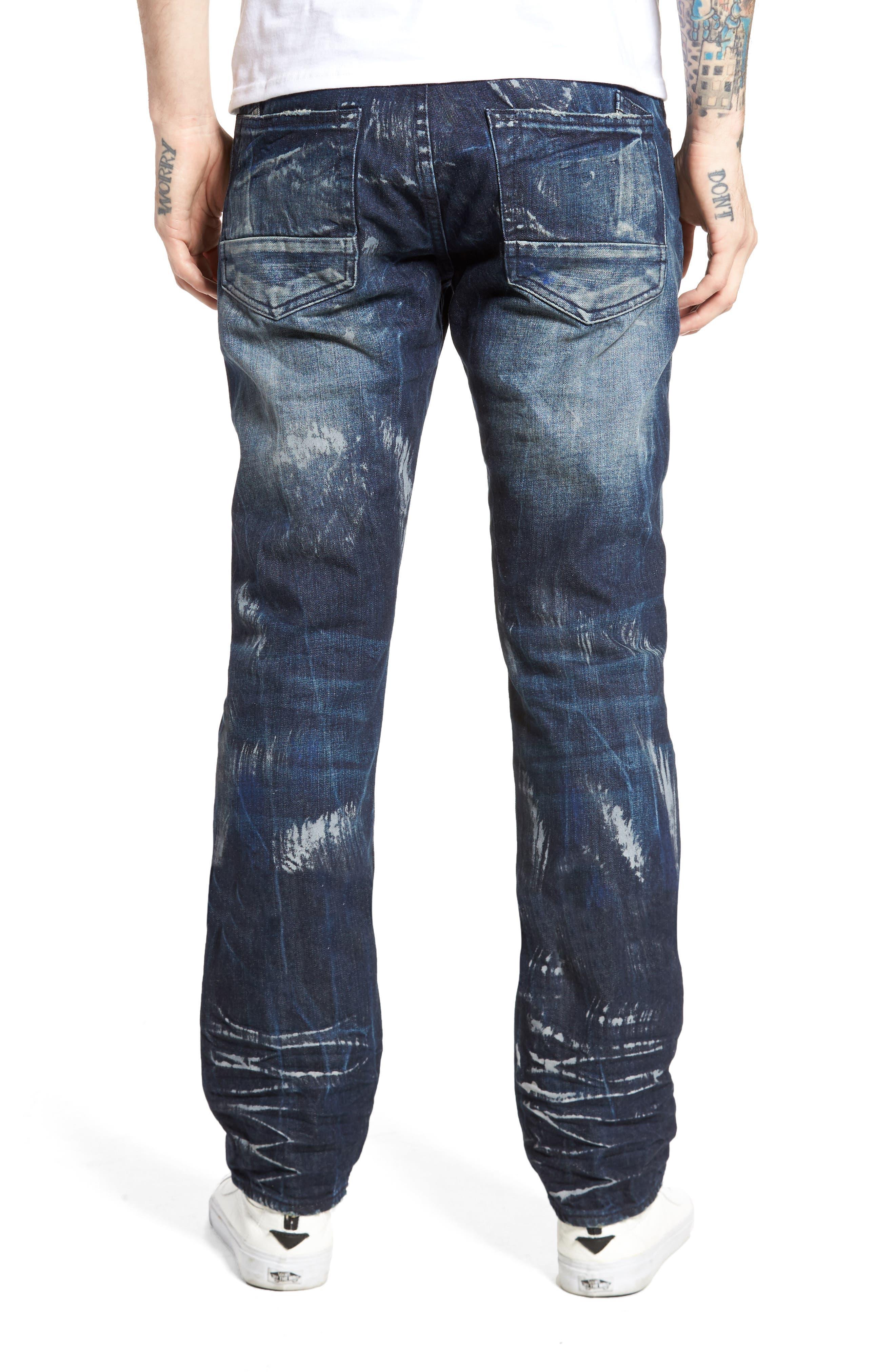 Slim Straight Leg Jeans,                             Alternate thumbnail 2, color,                             490