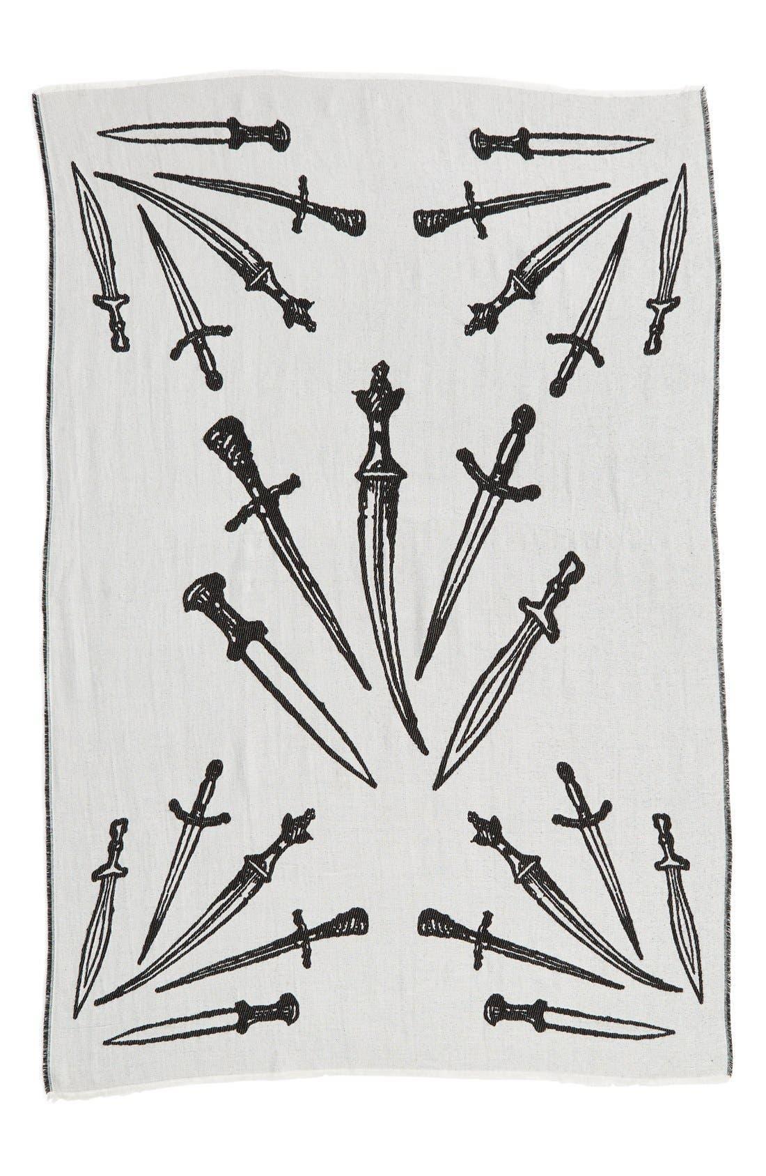'Dagger' Oversized Jacquard Scarf,                             Alternate thumbnail 2, color,                             167