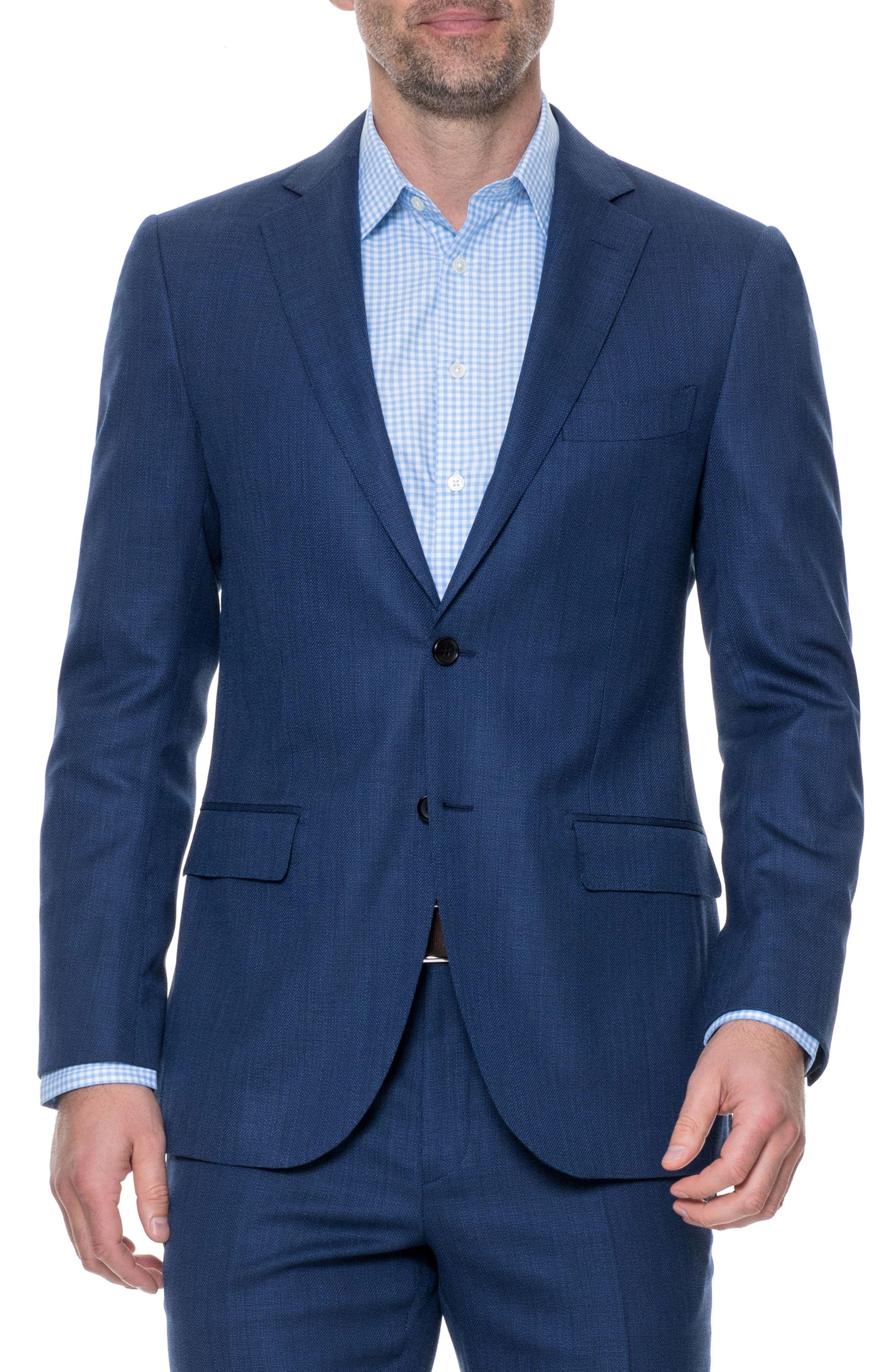 Newbridge Regular Fit Stretch Wool Blazer,                             Main thumbnail 1, color,                             ECLIPSE