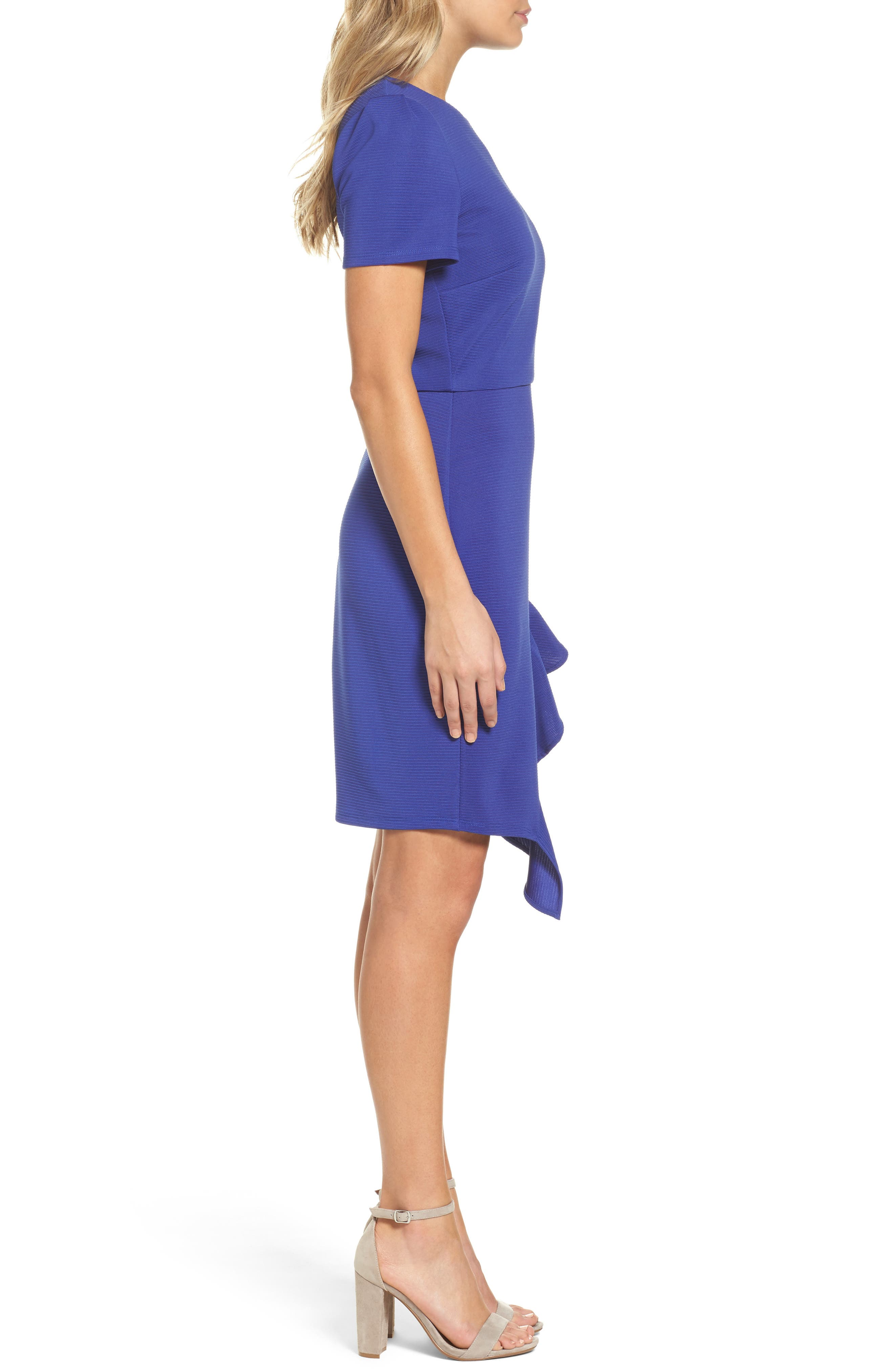 Ottoman Sheath Dress,                             Alternate thumbnail 3, color,                             472