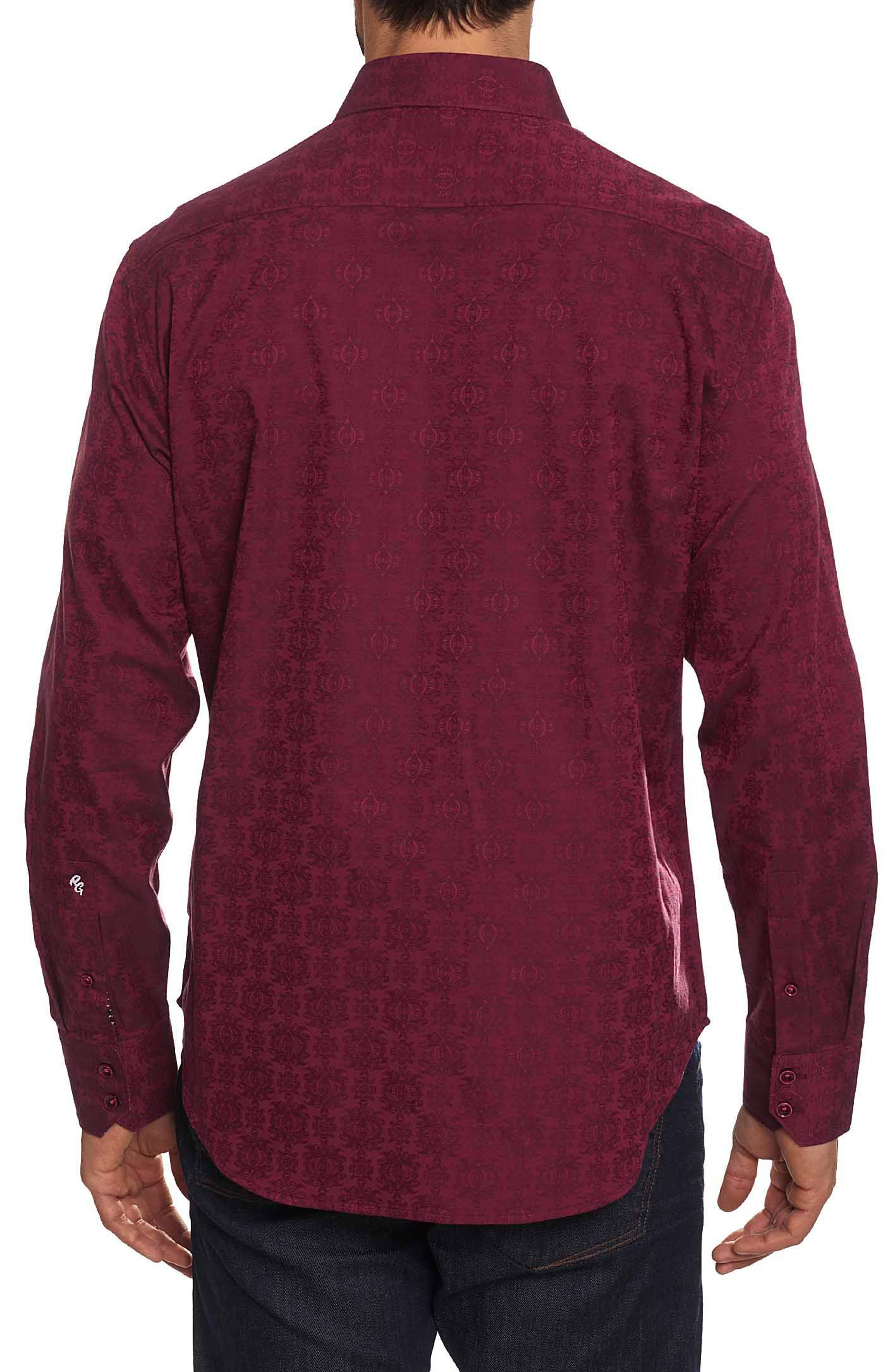 Cullen Classic Fit Jacquard Sport Shirt,                             Alternate thumbnail 3, color,