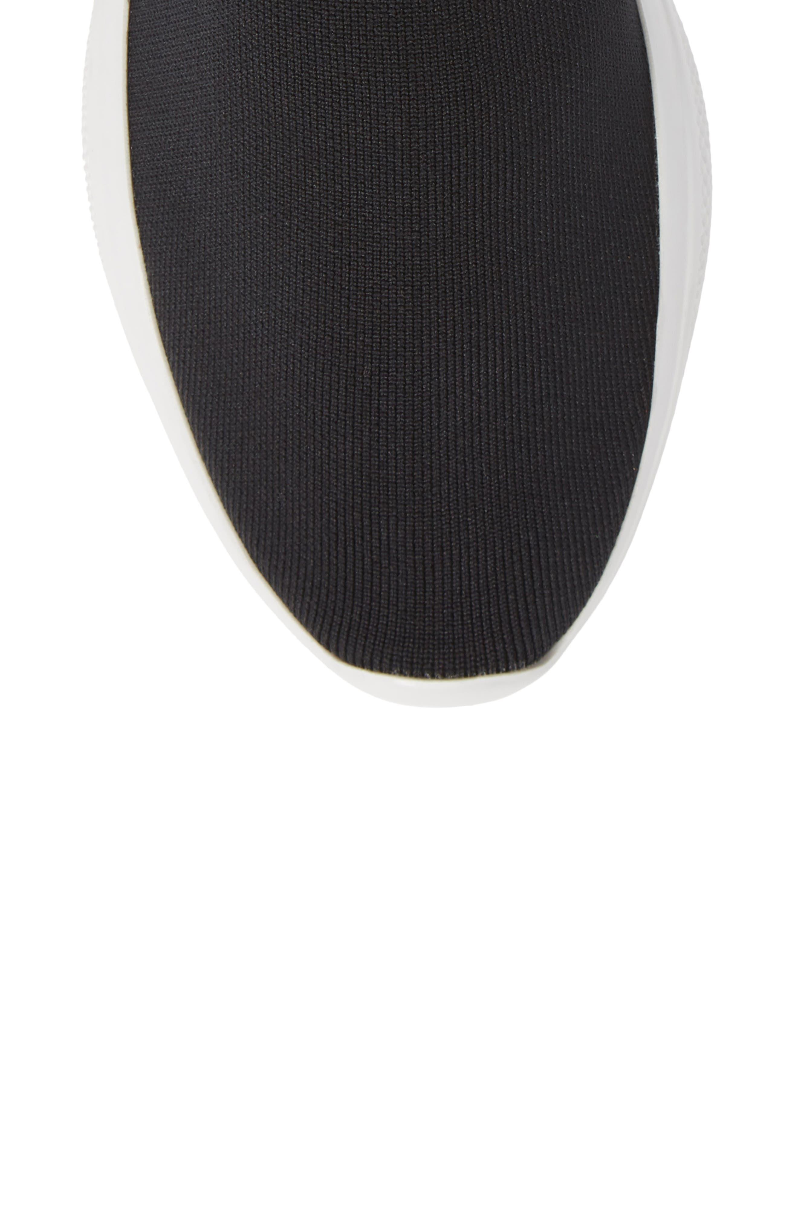 Logo Band Sock Sneaker,                             Alternate thumbnail 5, color,                             BLACK